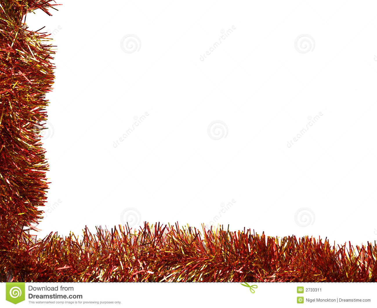 Tinsel Border tinsel borders collection stock image - image: 2733311