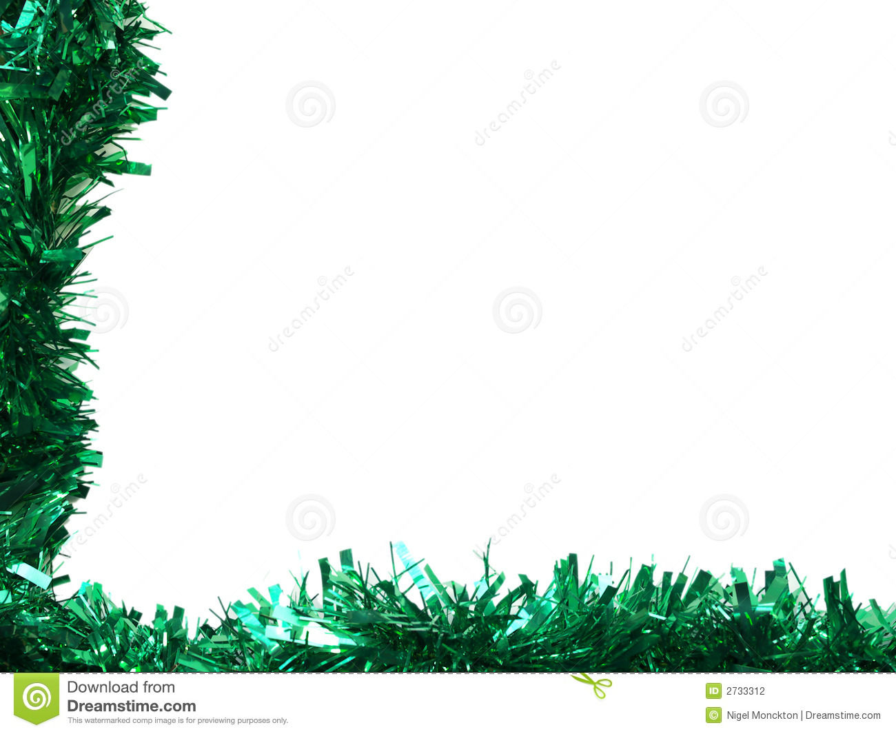 Tinsel borders collection stock photo image of gold