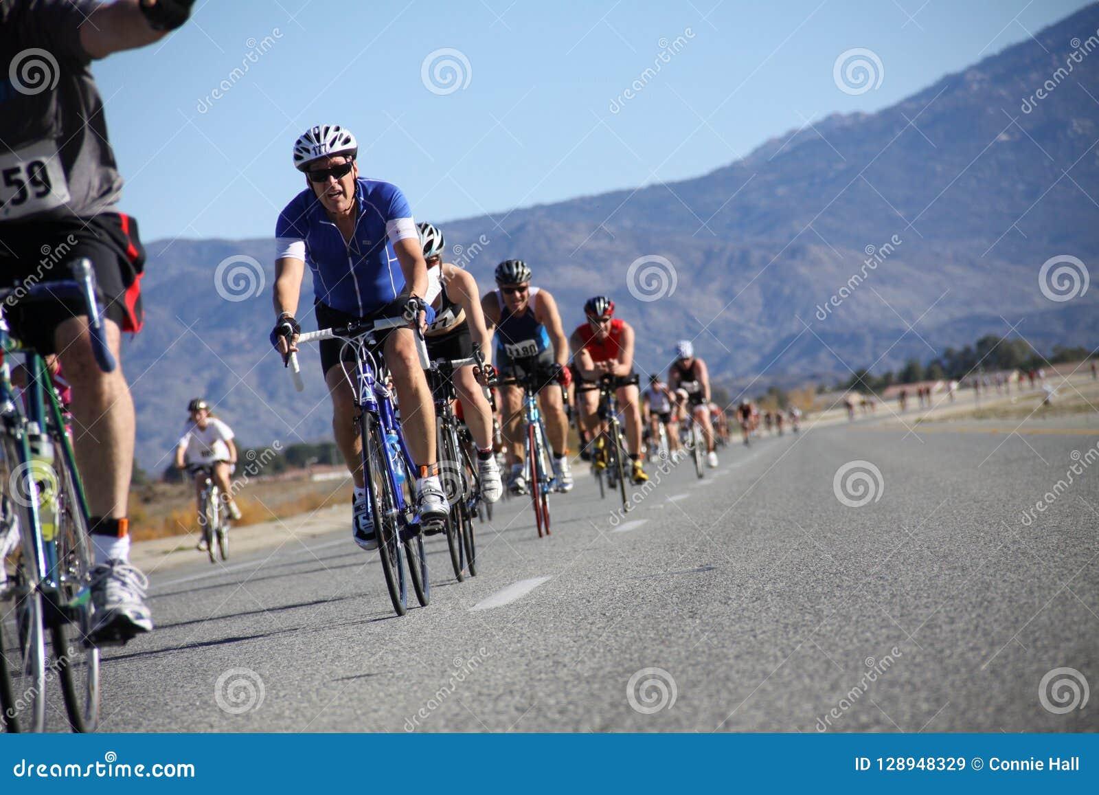 Tinsel Triathlon Bike Route Editorial Stock Image - Image of