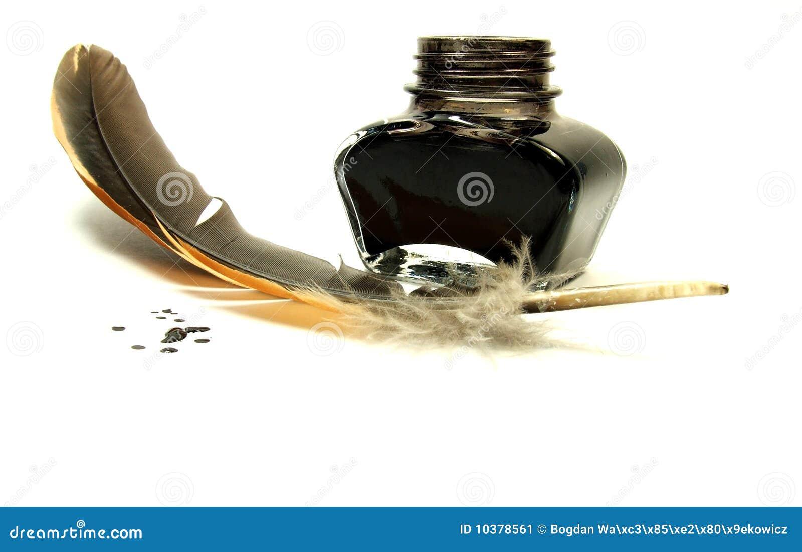 tintenfa und spule stockbild bild von spule schwarzes. Black Bedroom Furniture Sets. Home Design Ideas
