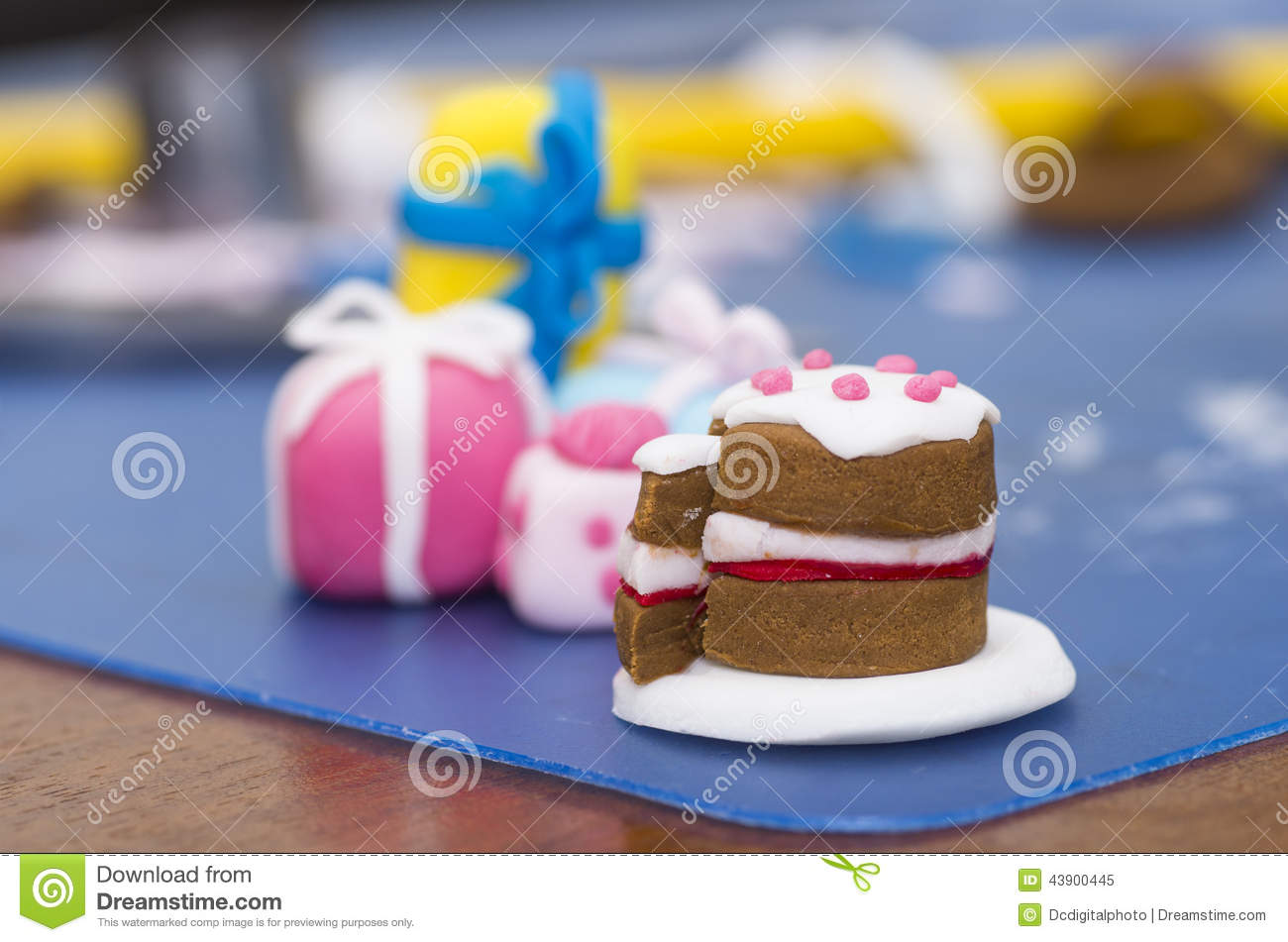 Superb Tiny Cake Decorations Made From Fondant Stock Image Image Of Birthday Cards Printable Opercafe Filternl