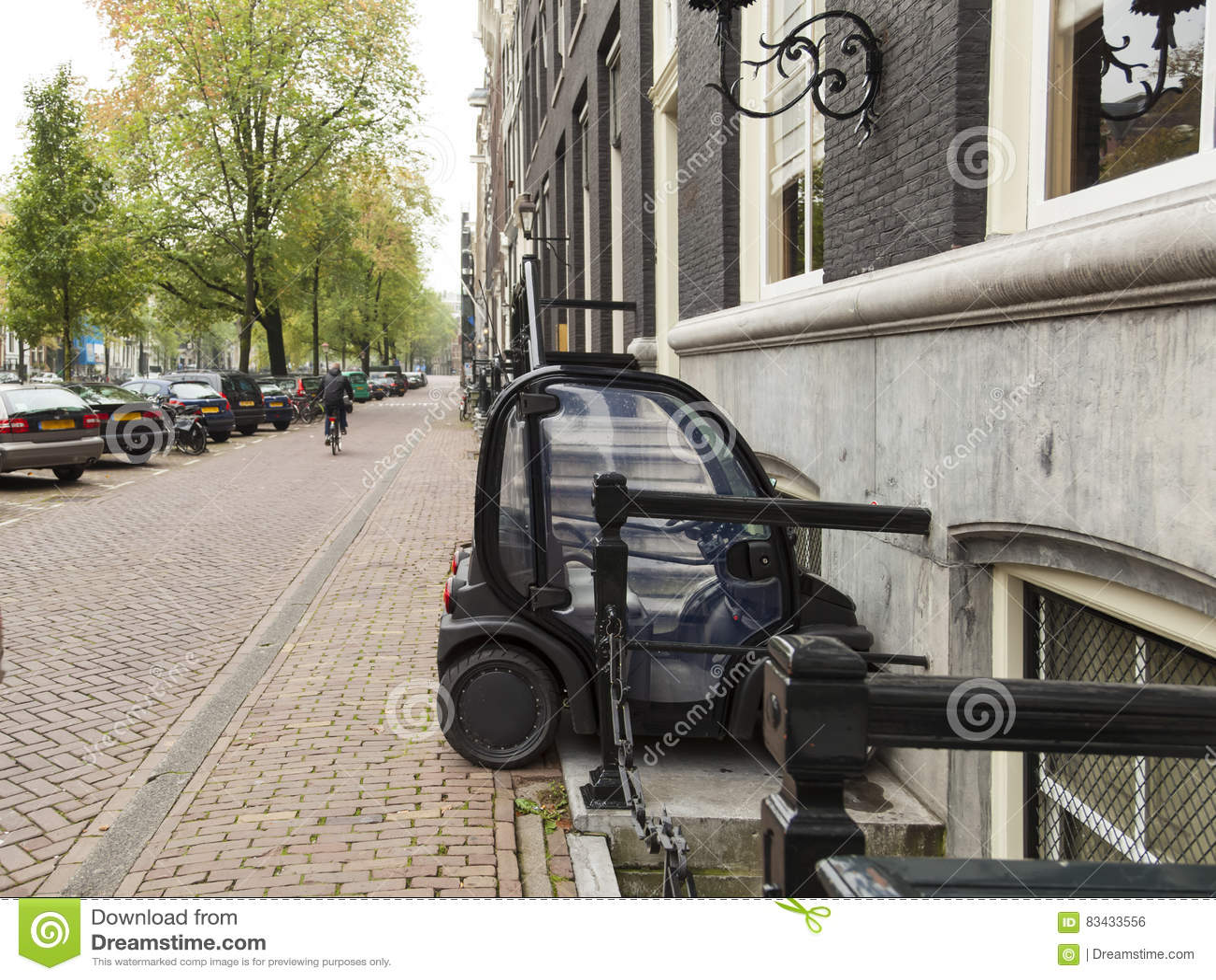 Tiny Electric Car Stock Photo Image