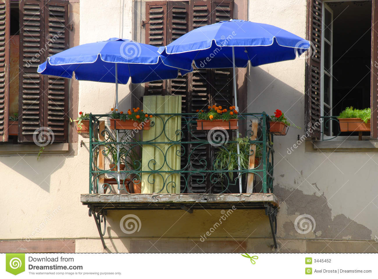 Tiny french balcony stock photography image 3445452 for Balcony french
