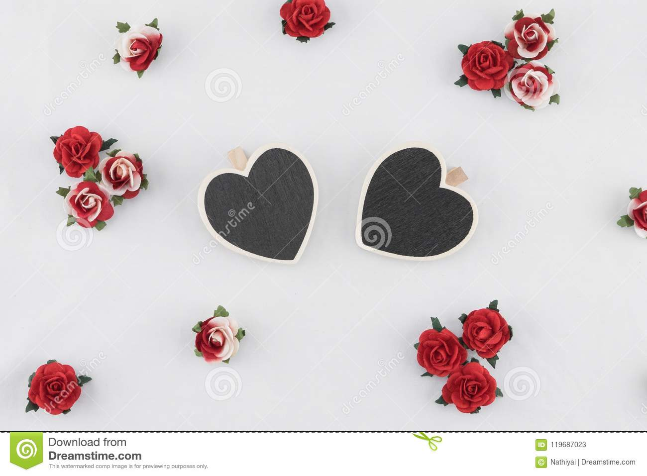 Tiny heart shape blackboard decorate with red rose paper flowers download tiny heart shape blackboard decorate with red rose paper flowers stock image image of mightylinksfo