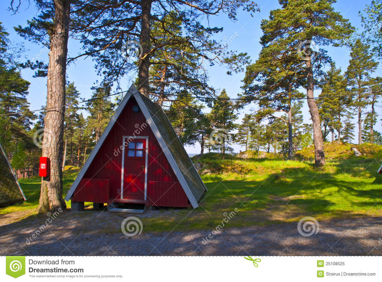 Tiny Little Cabins For Rent Stock Image Image 25108525