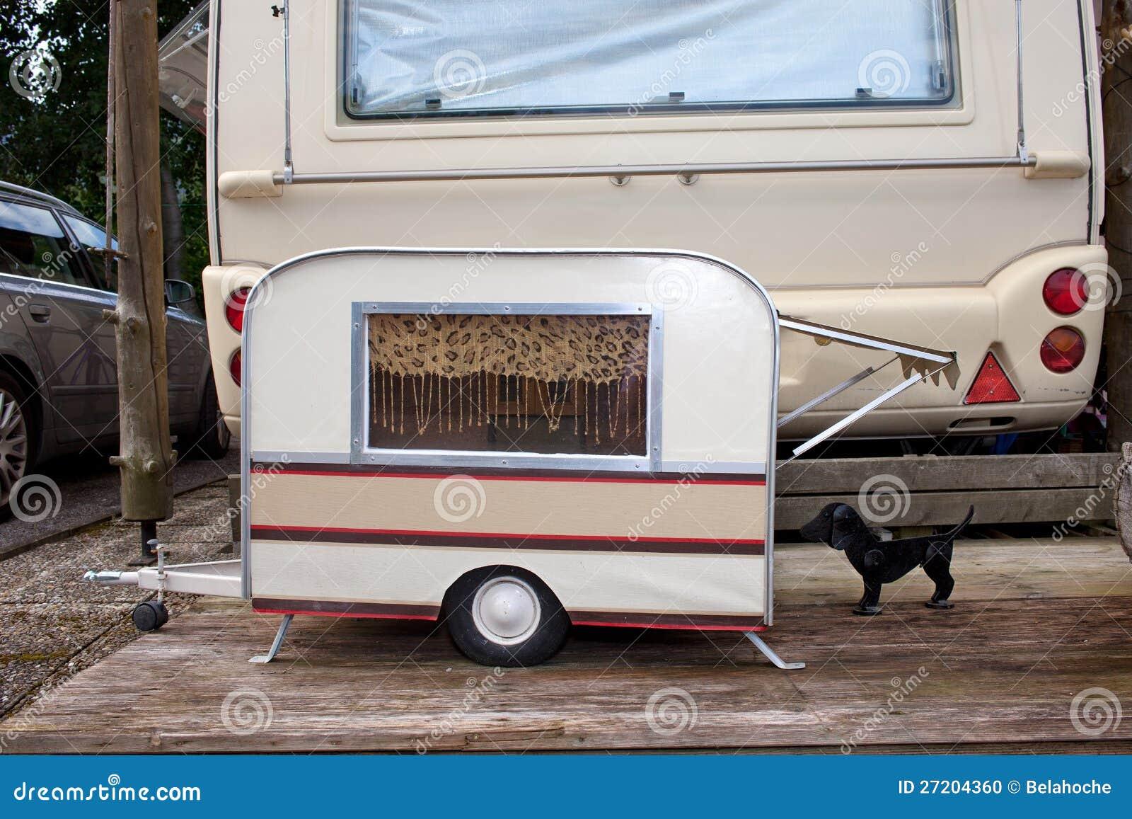 Tiny Model Caravan For A Dog Stock Photo Image 27204360