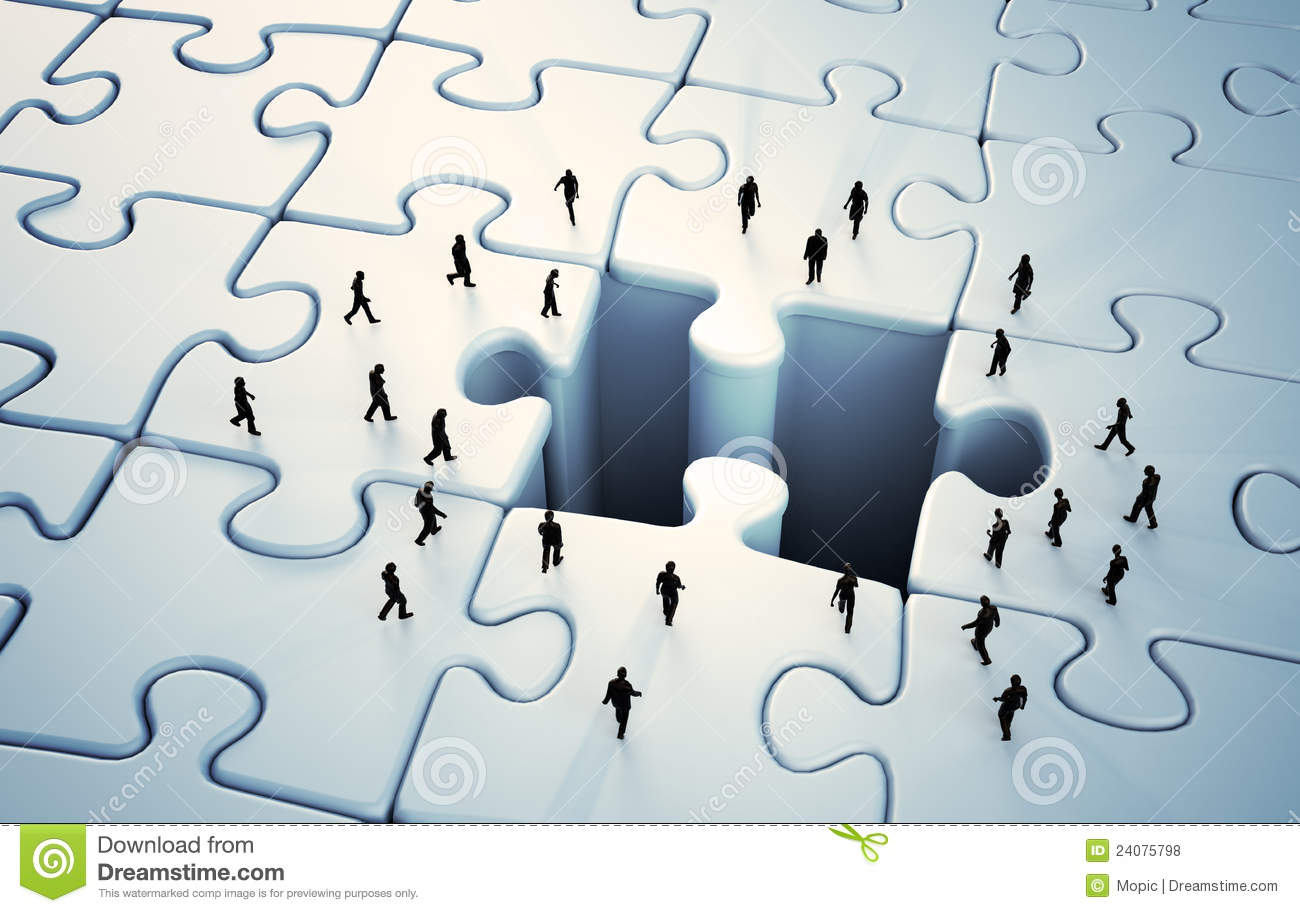 Tiny People Jigsaw Puzzle Stock Illustration Illustration Of Piece