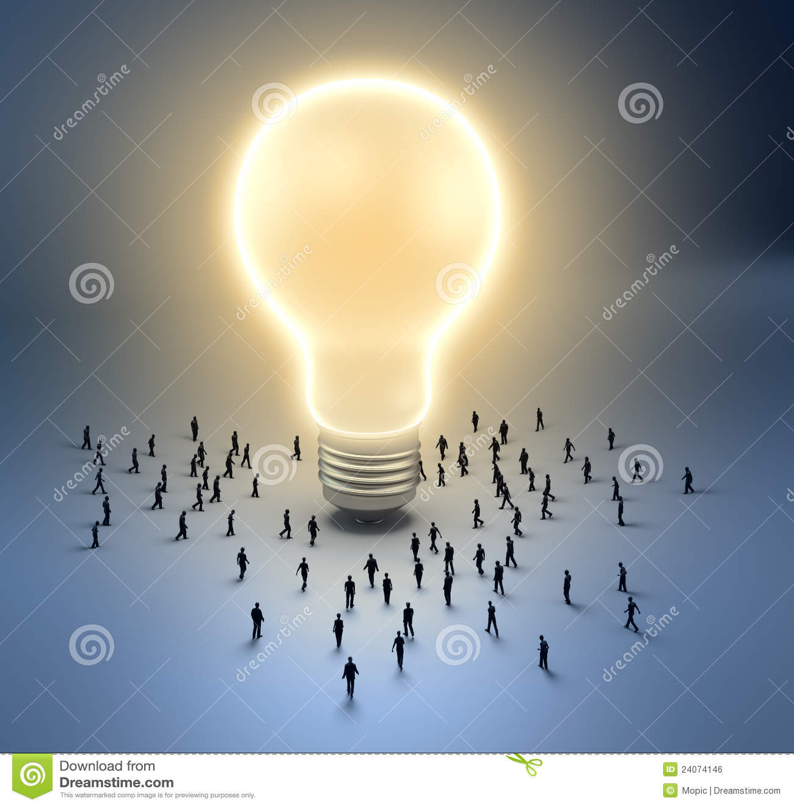 Tiny People Light Bulb Royalty Free Stock Image Image