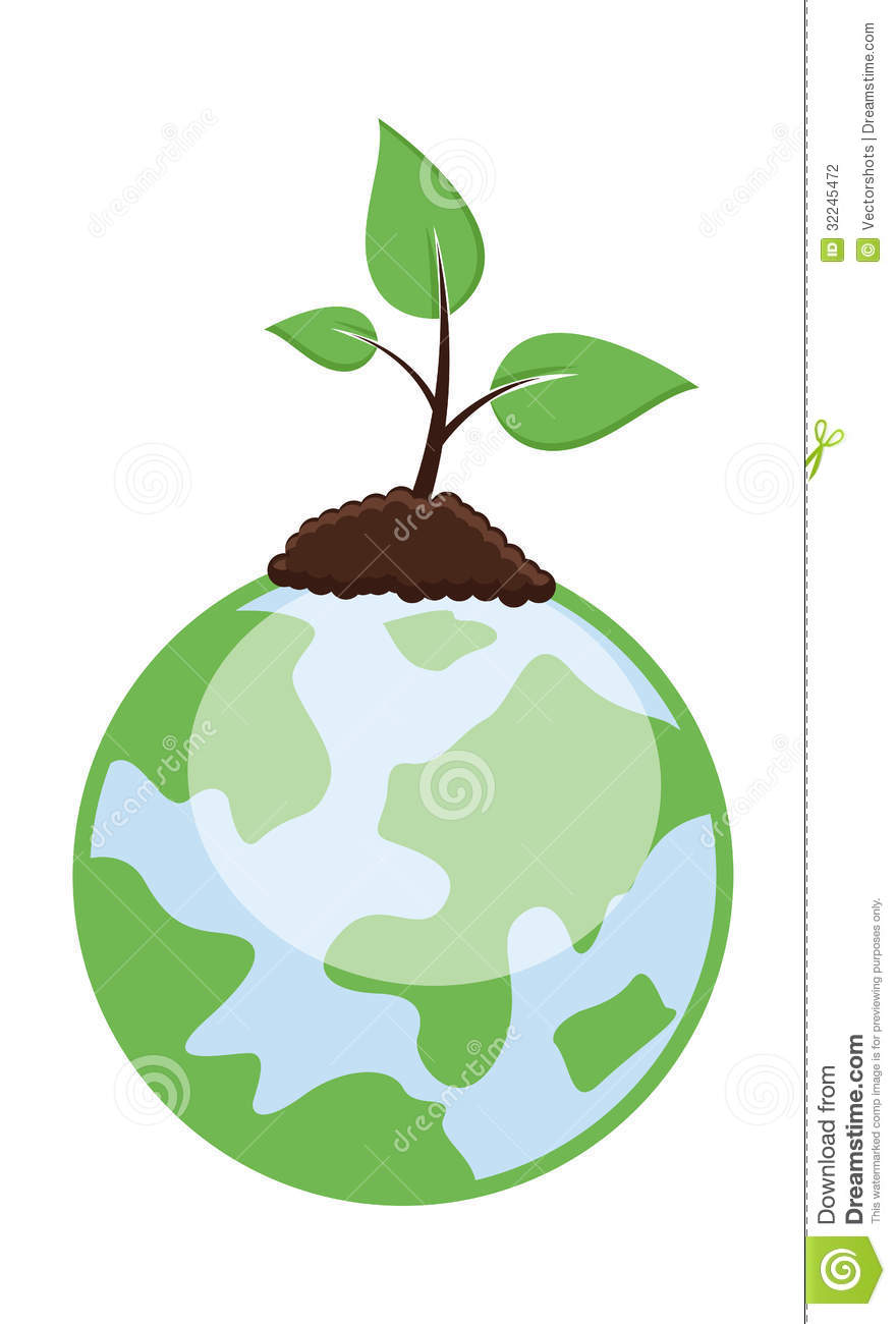 Tiny Plant Growing on Earth Growing Plant Drawing