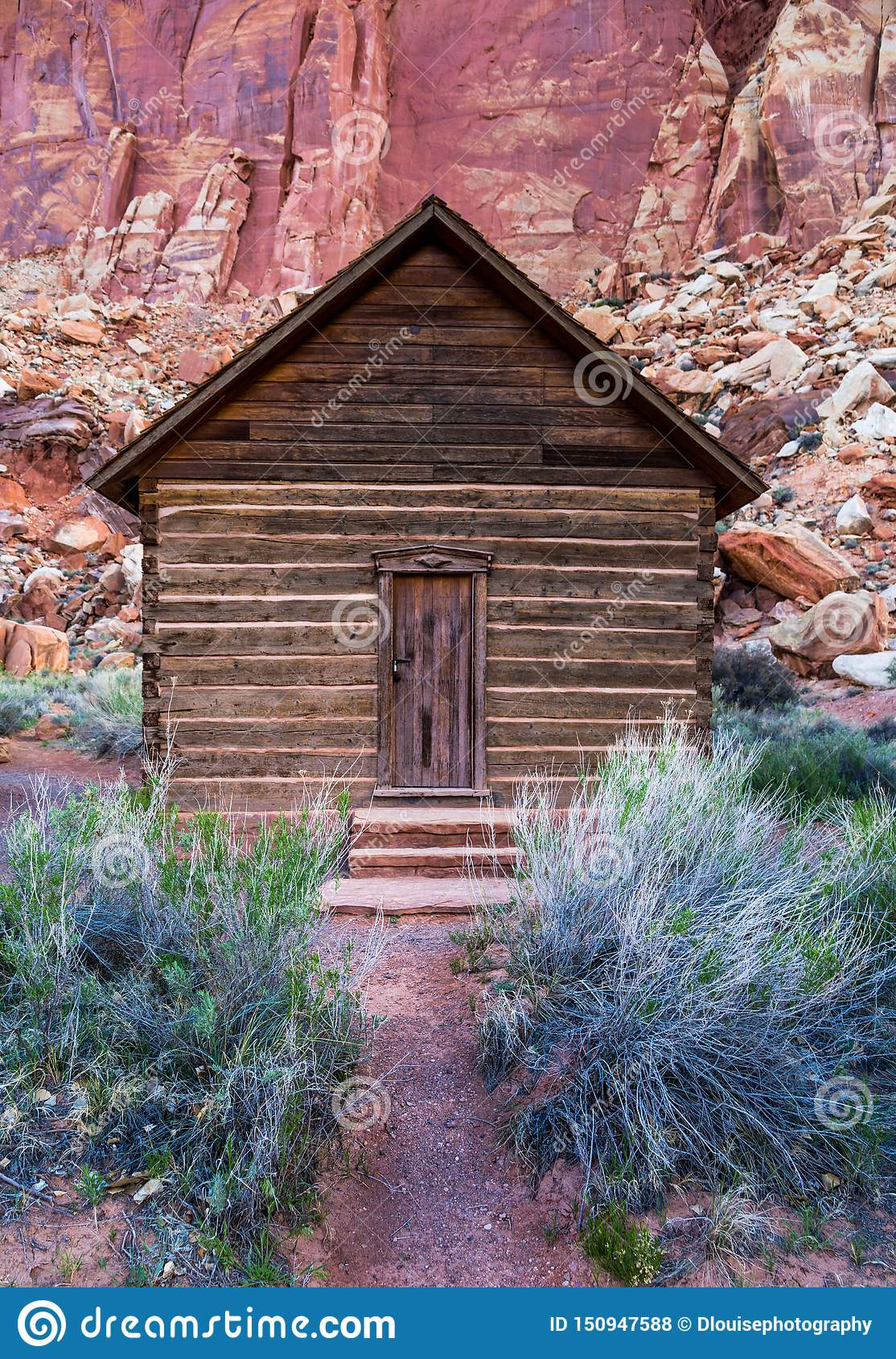 Tiny School House In The Utah Canyon Stock Photo Image Of