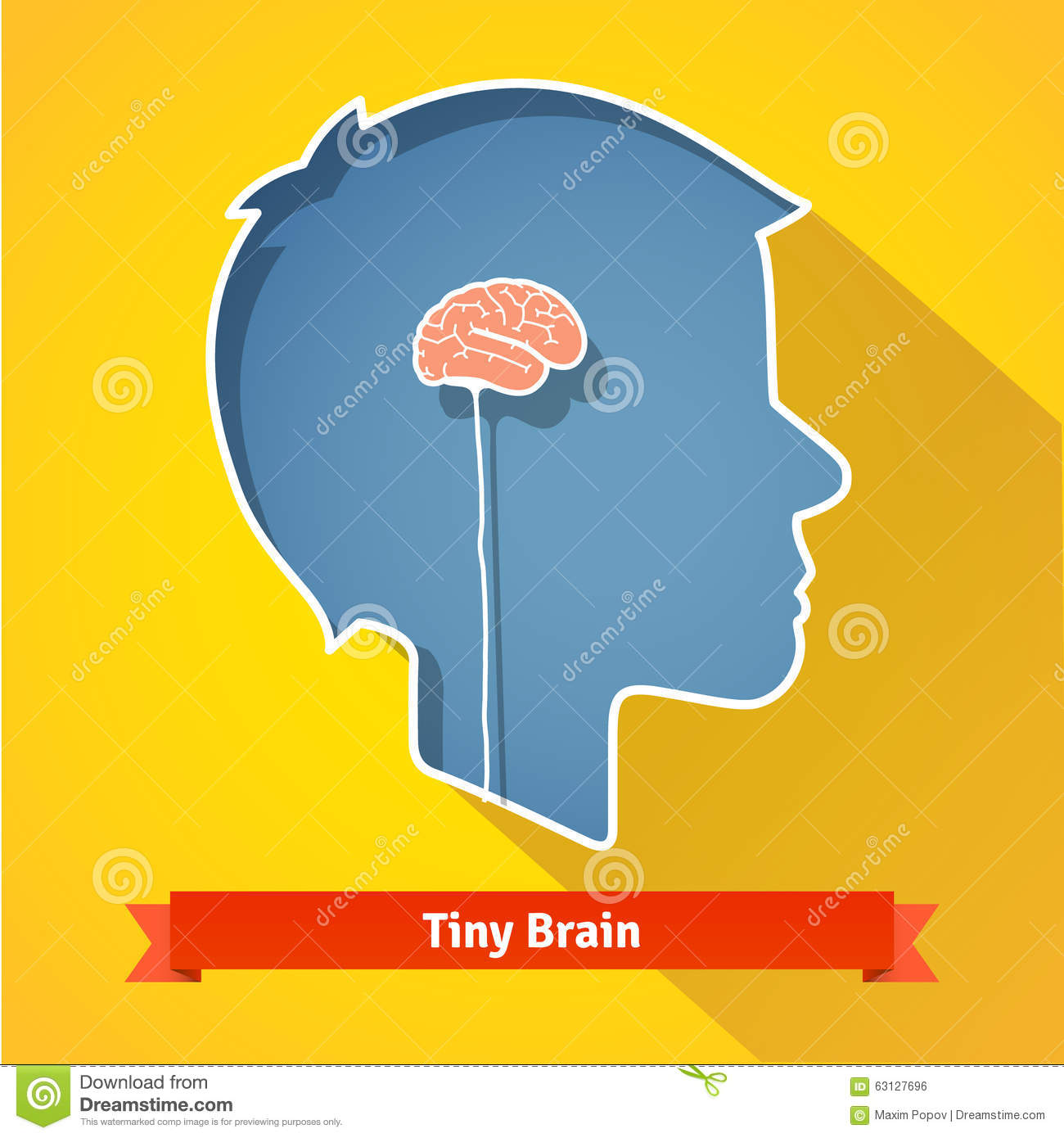 Tiny small underdeveloped or dried up brain