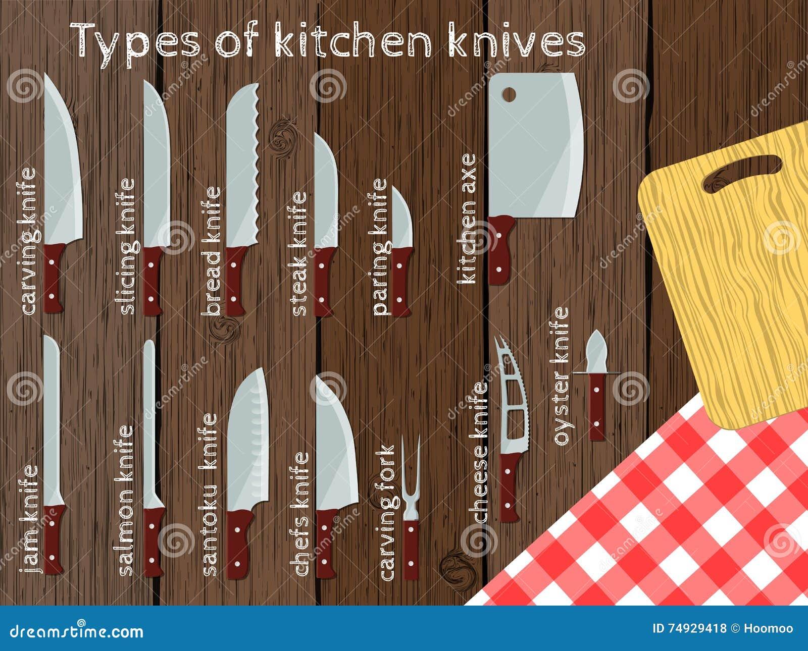 Tipi di coltelli da cucina illustrazione di vettore illustrazione vettoriale illustrazione di - Tipi di coltelli da cucina ...