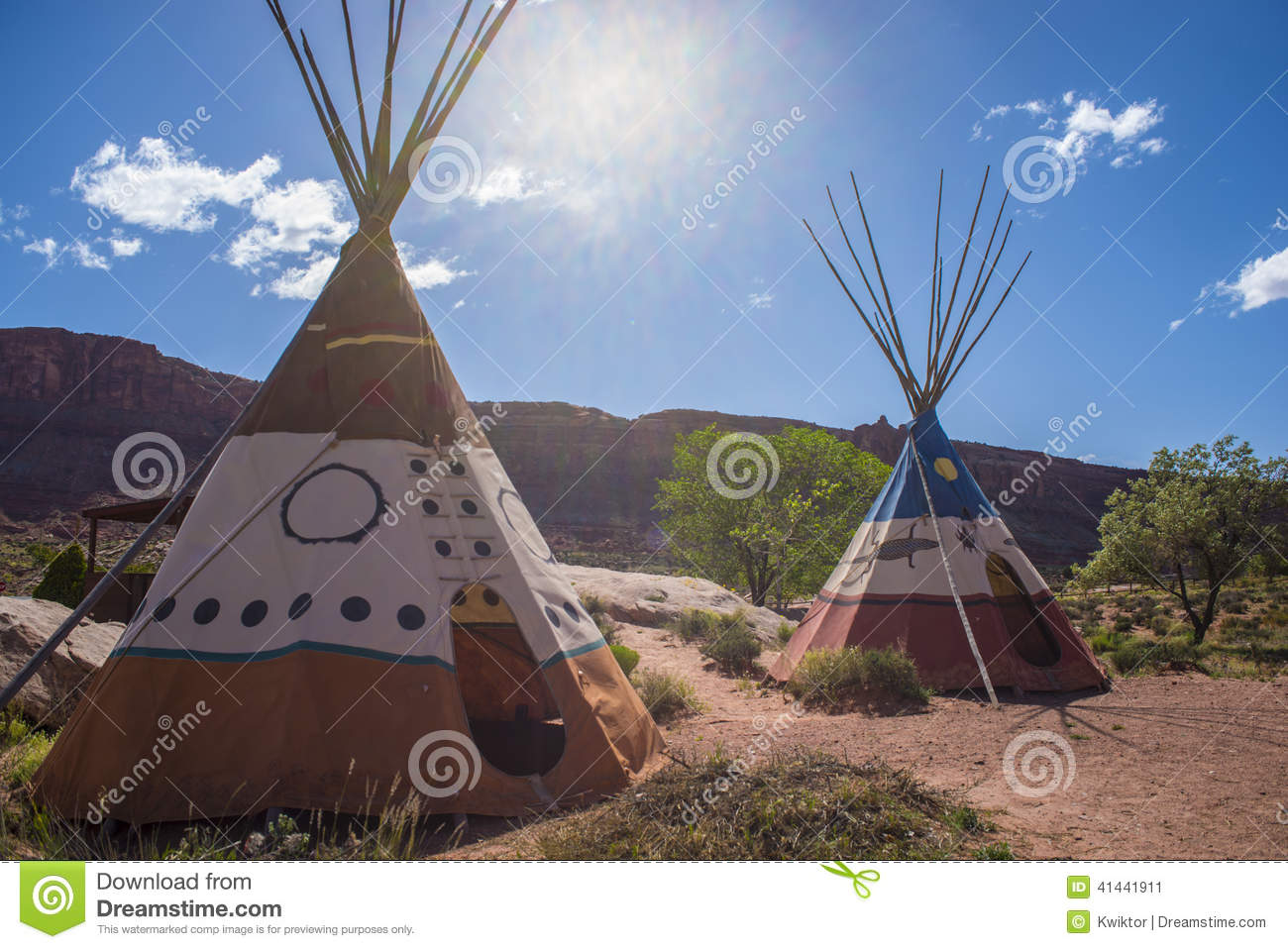 tipi indien de tipi photo stock image 41441911. Black Bedroom Furniture Sets. Home Design Ideas