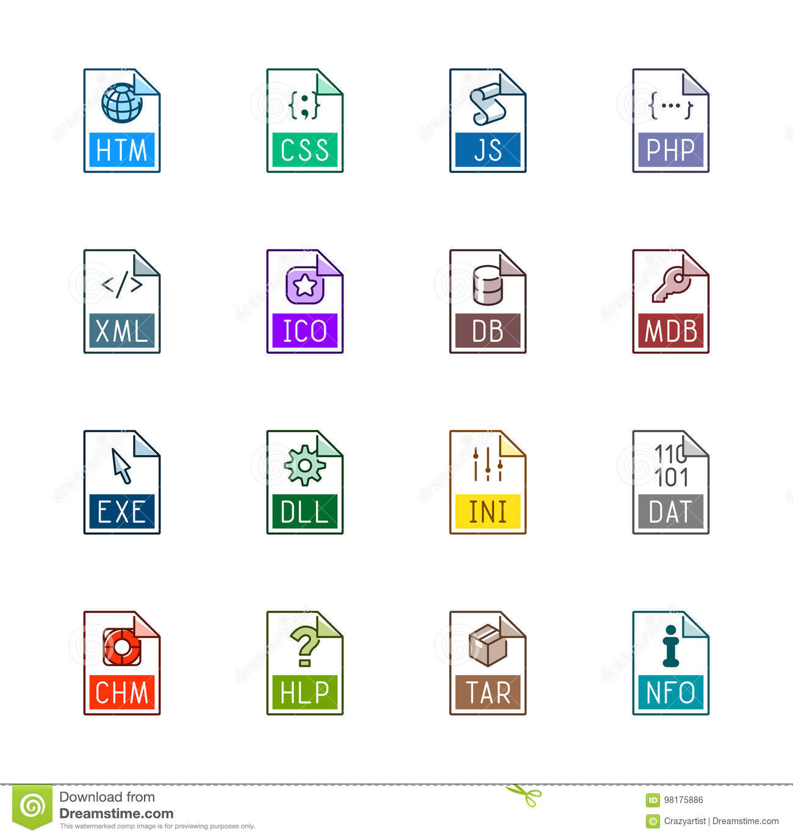 Tipo de arquivo ícones: Web site e aplicações - Linne Color