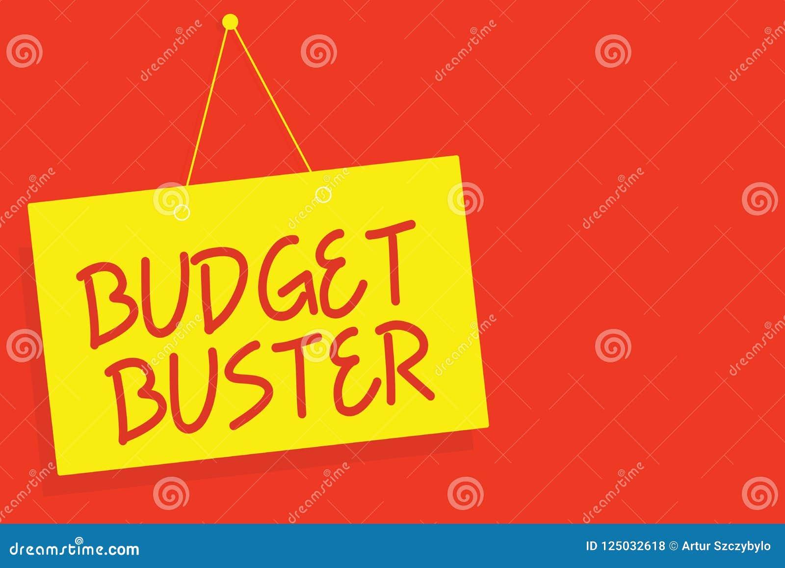 Tipo del presupuesto de la escritura del texto de la escritura El concepto que significa el gasto despreocupado negocia las compr