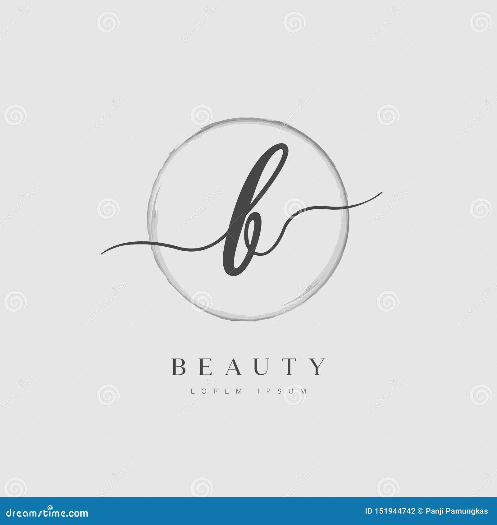 Tipo elegante logo della lettera iniziale di B