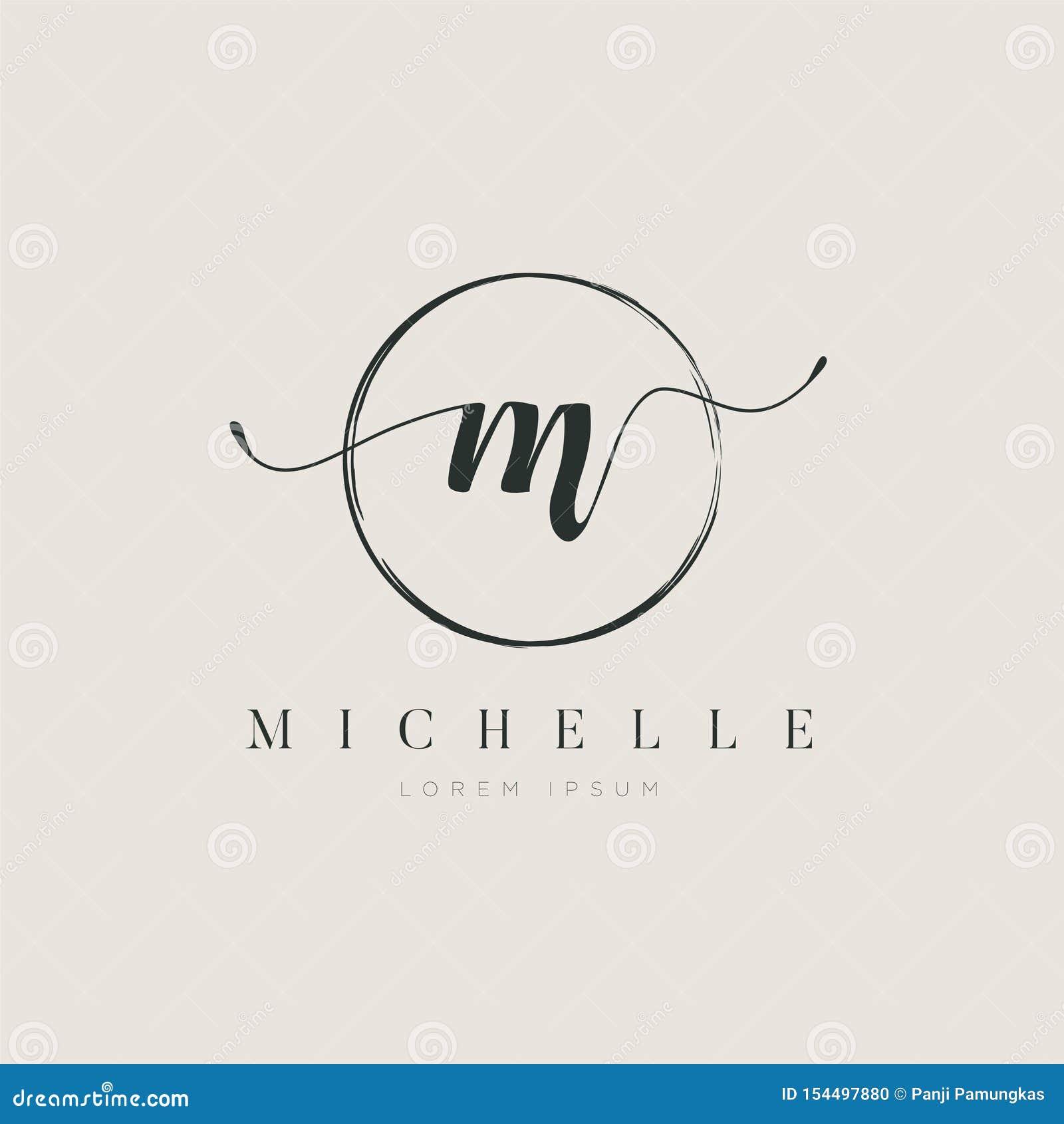 Tipo elegante simples M Logo Sign Symbol Icon da letra inicial