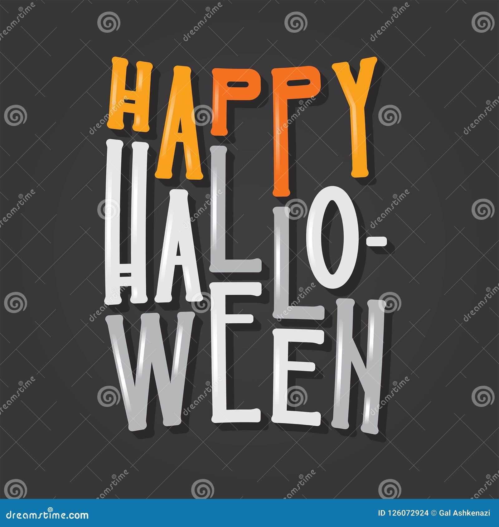 Tipo Letras Del Feliz Halloween Tipografía Del Día De Fiesta