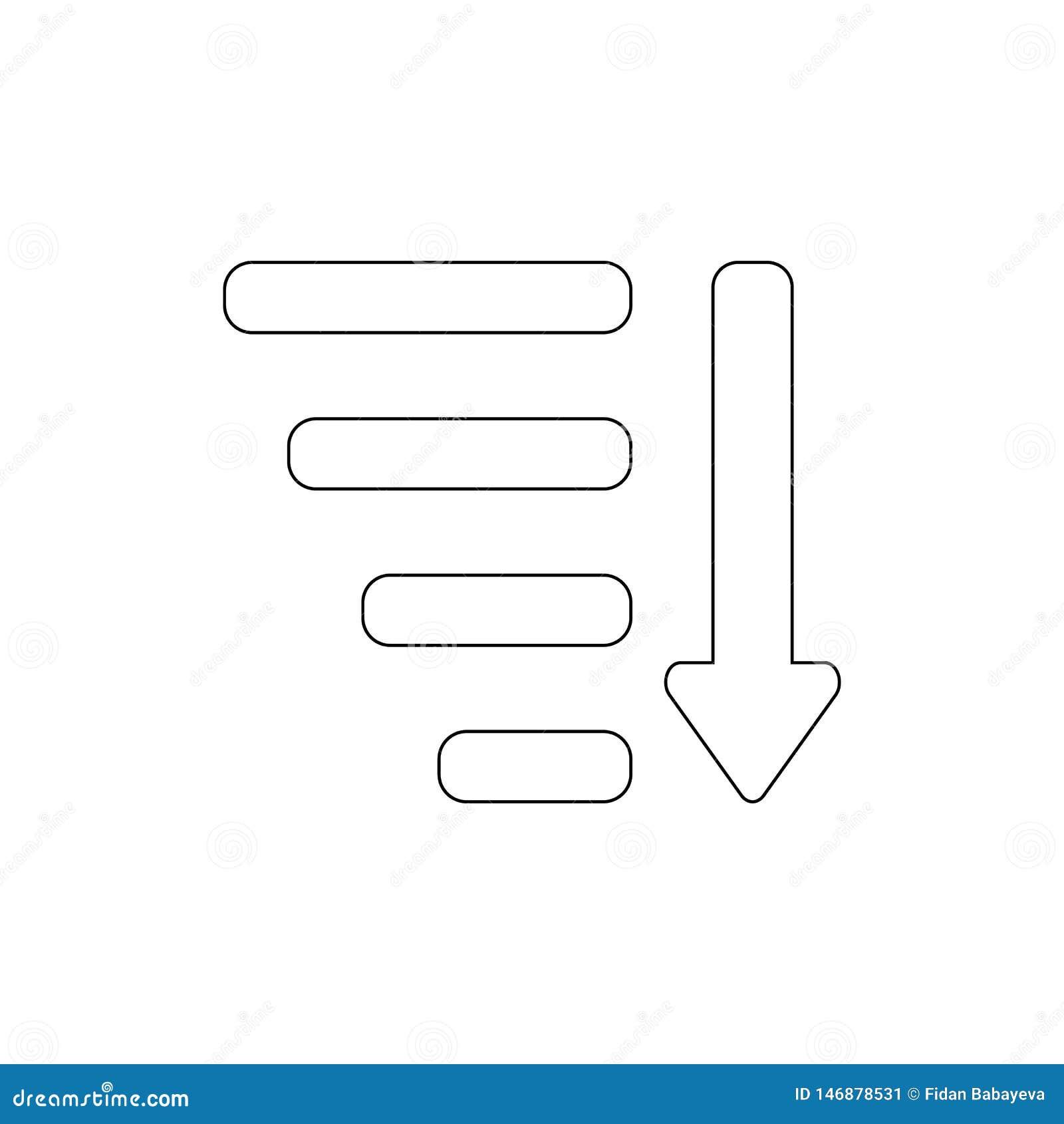 Tipo pelo ícone do esboço da seta dos atributos Os sinais e os s?mbolos podem ser usados para a Web, logotipo, app m?vel, UI, UX