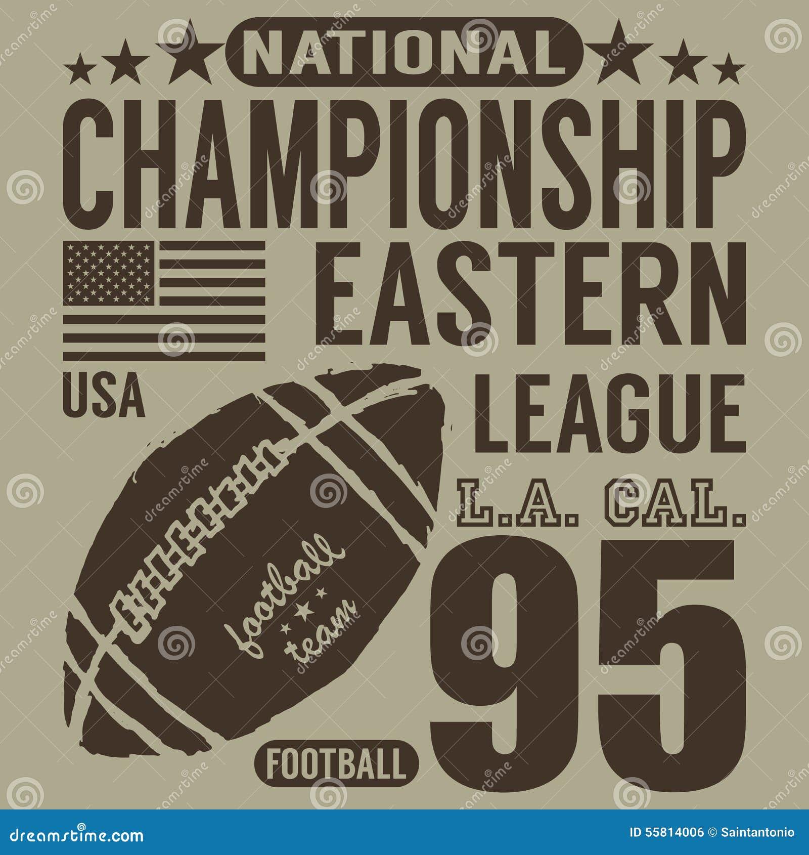 Tipografía del deporte del fútbol, gráficos del diseño de la impresión de la camiseta, cartel del vector, etiqueta del Applique d
