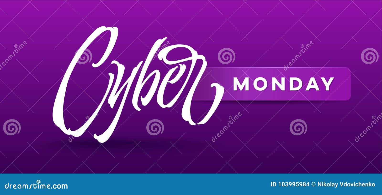 Tipografia cyber di lunedì per la carta, insegne, annunci, opuscoli di pubblicità, libretto