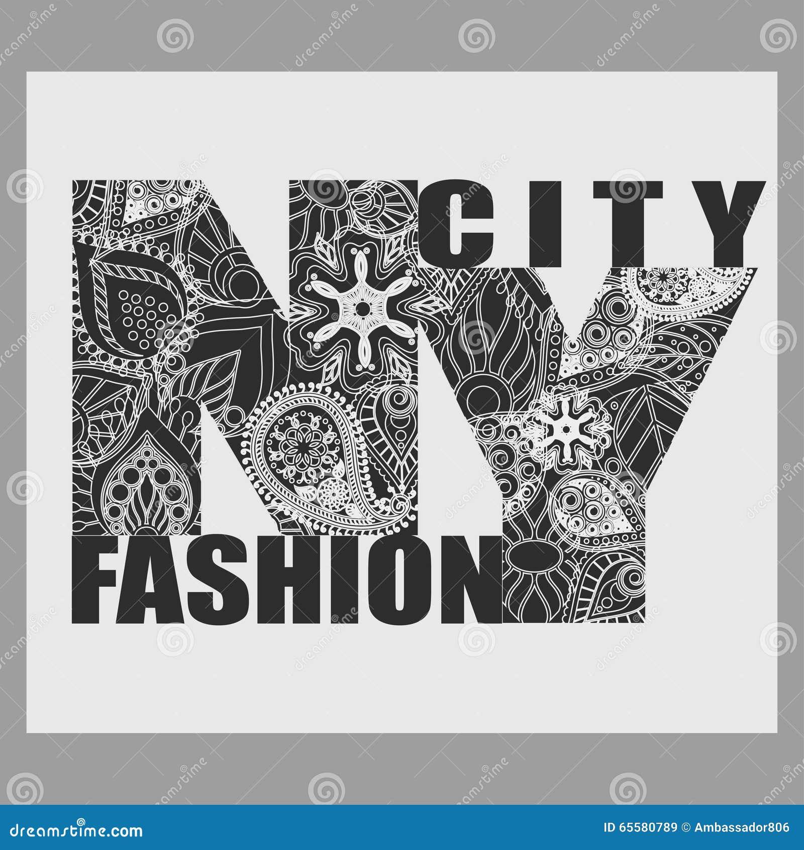 Tipografia da forma do t-shirt de New York