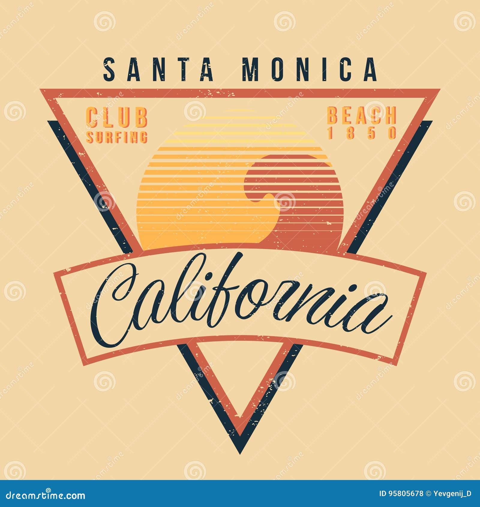 Tipografia do esporte da ressaca de Califórnia Estilo 80s gráfico da camisa do vintage t