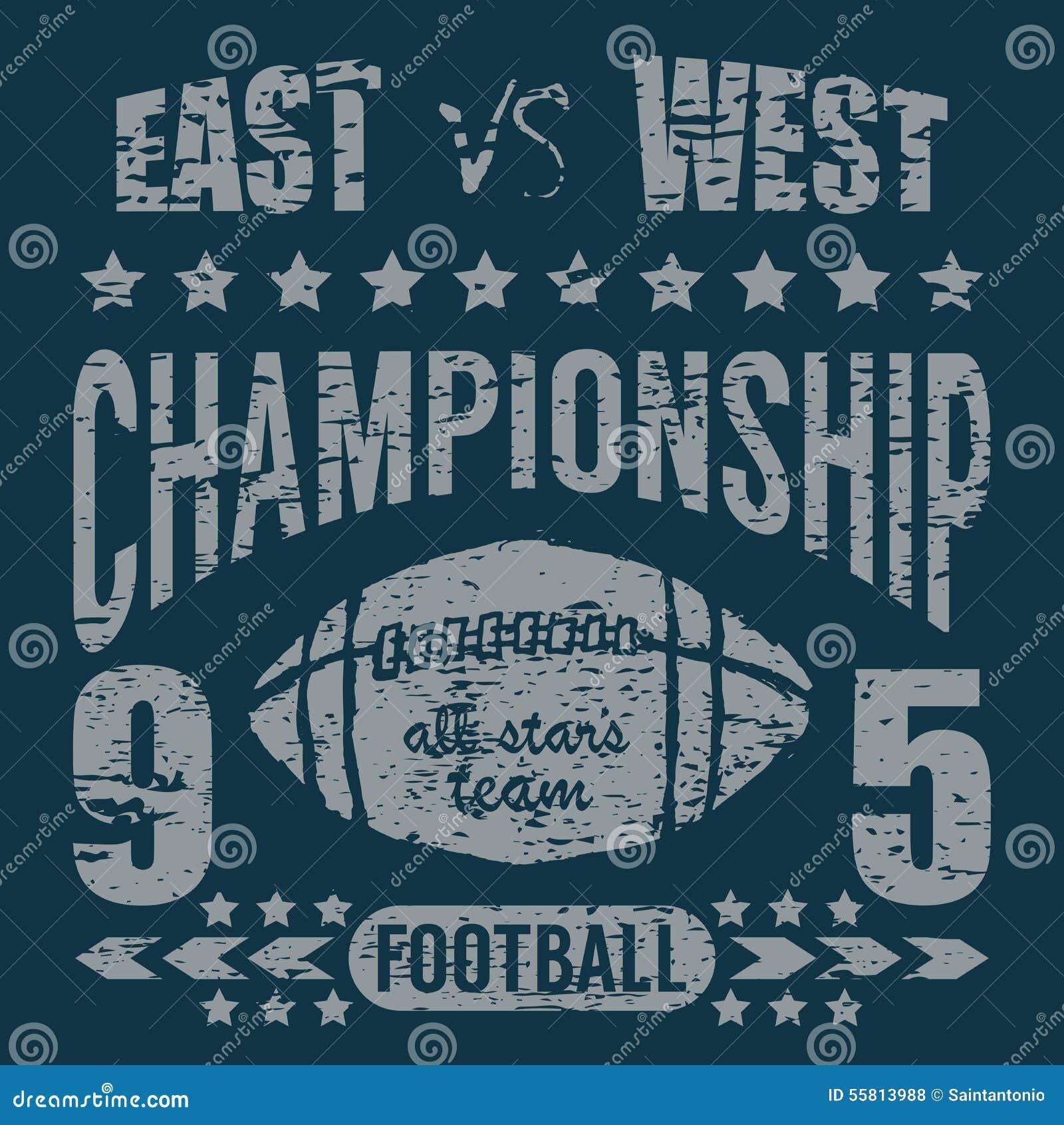 Tipografia do esporte do futebol, gráficos do projeto da impressão do t-shirt, cartaz do vetor, etiqueta do Applique do crachá