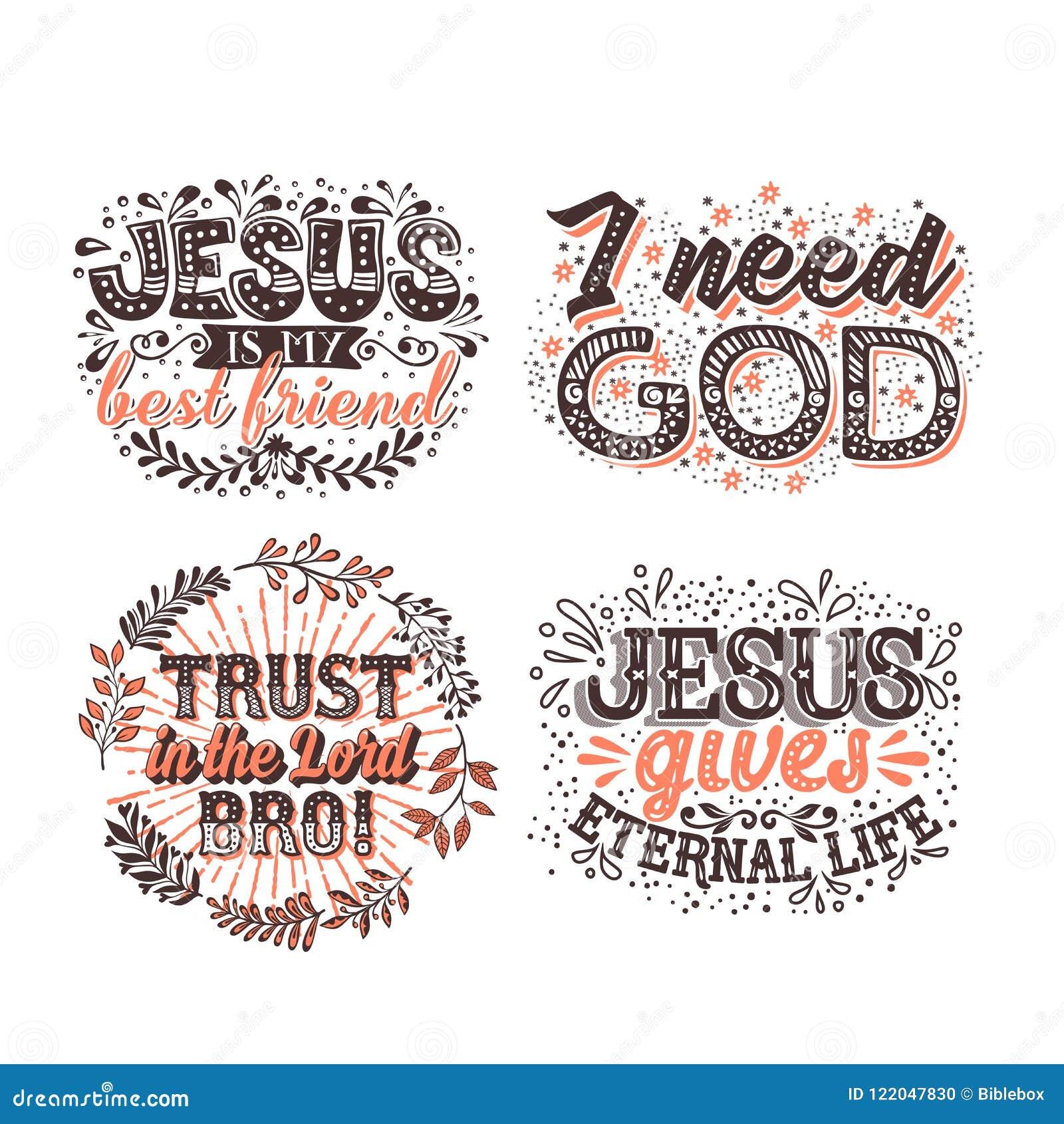 Tipografia E Rotulação Cristãs Ilustrações De Frases Bíblicas