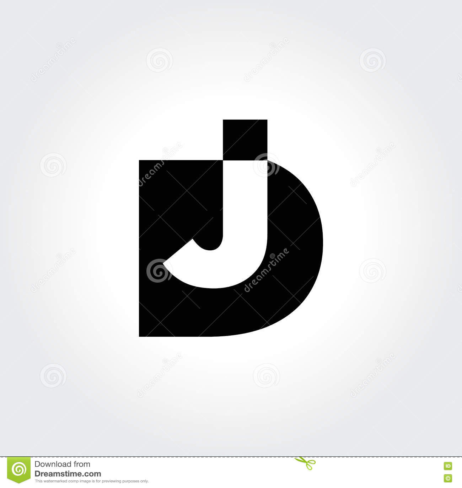 Tipografia inicial inteligente do jóquei de disco