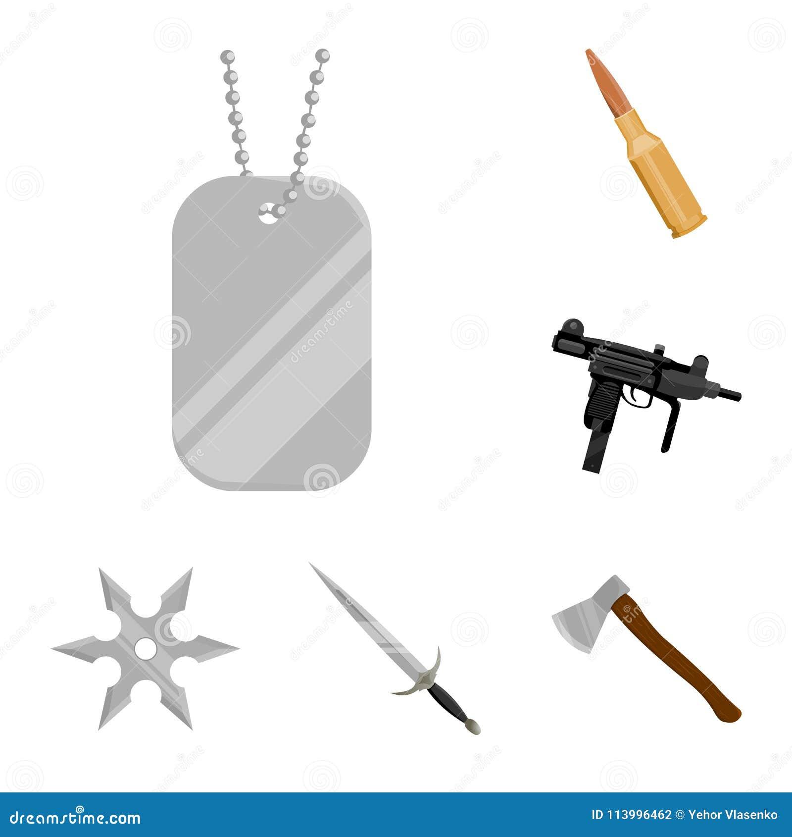 Tipos De Icones Dos Desenhos Animados Das Armas Na Colecao Do