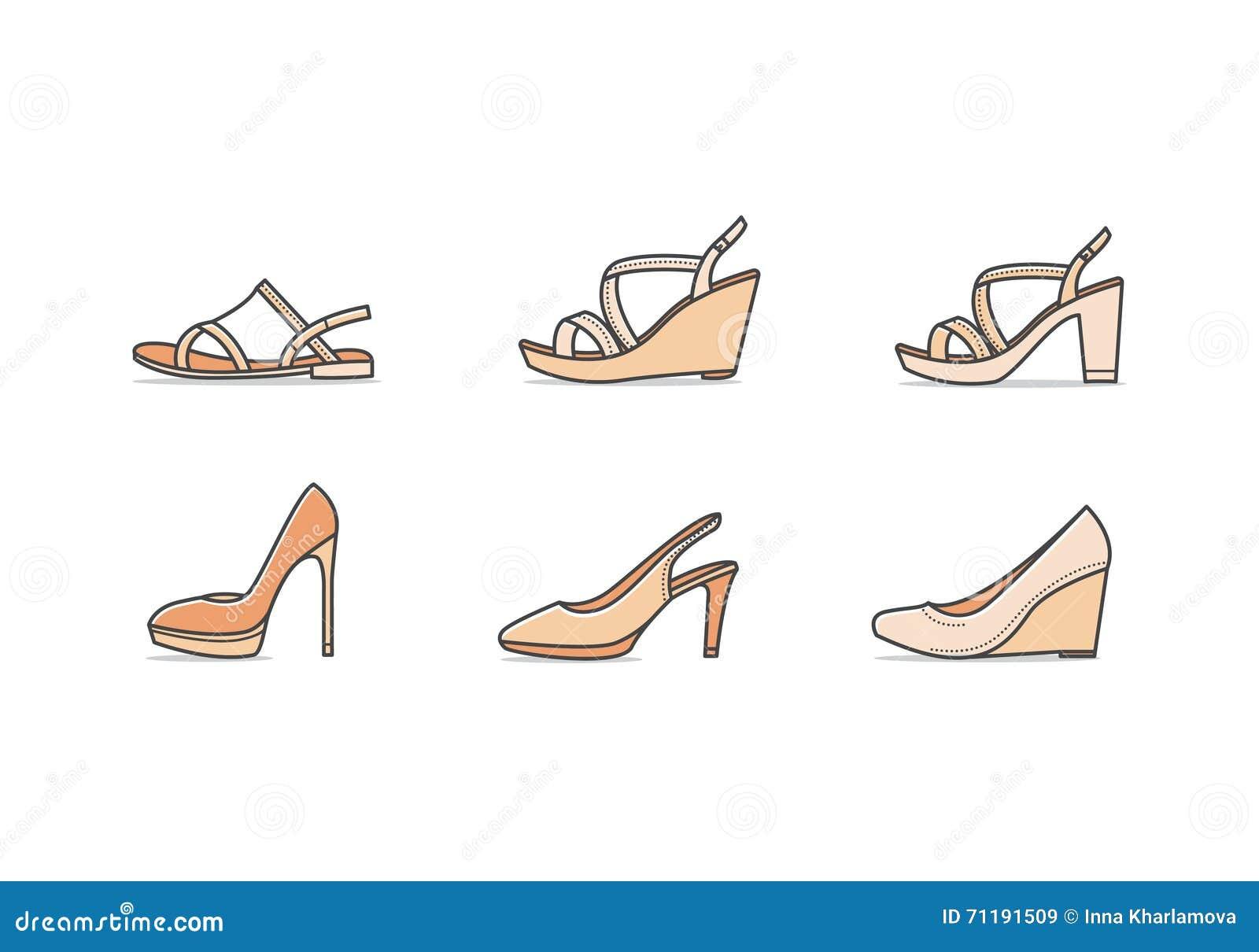 Tipos La Vector Zapatos Ilustración De Mujer Del ZiOkXuP
