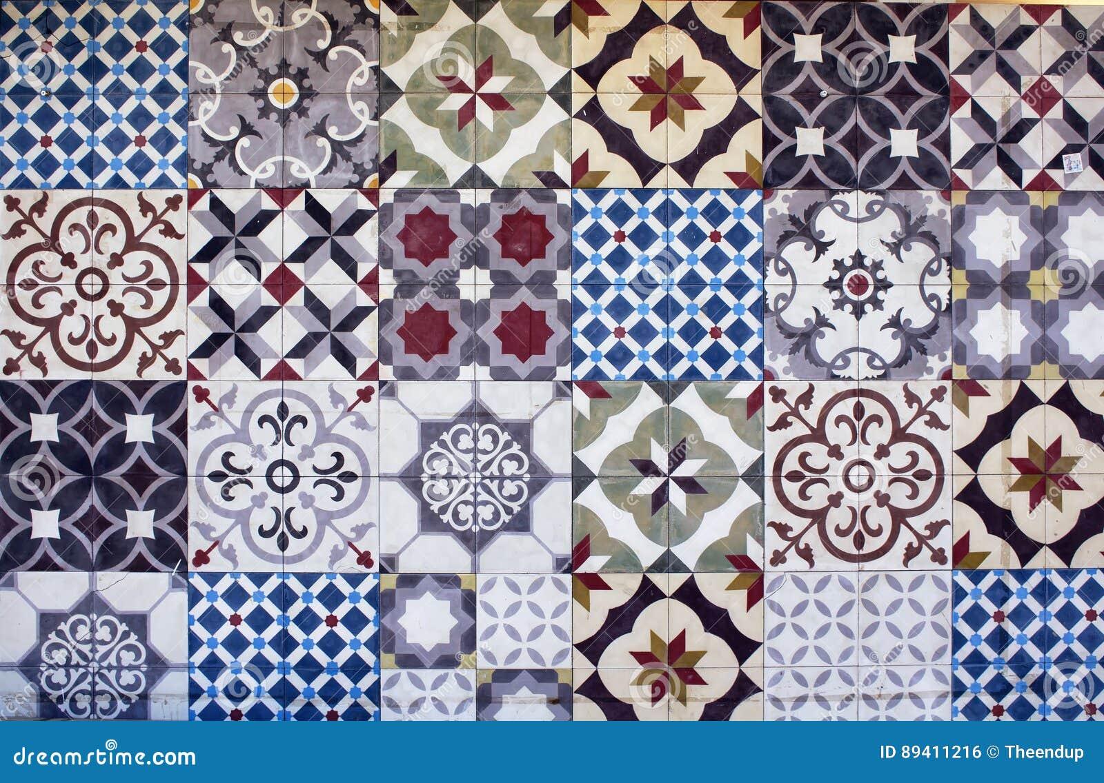 Tipos diferentes muitas telhas mediterrâneas/egeias