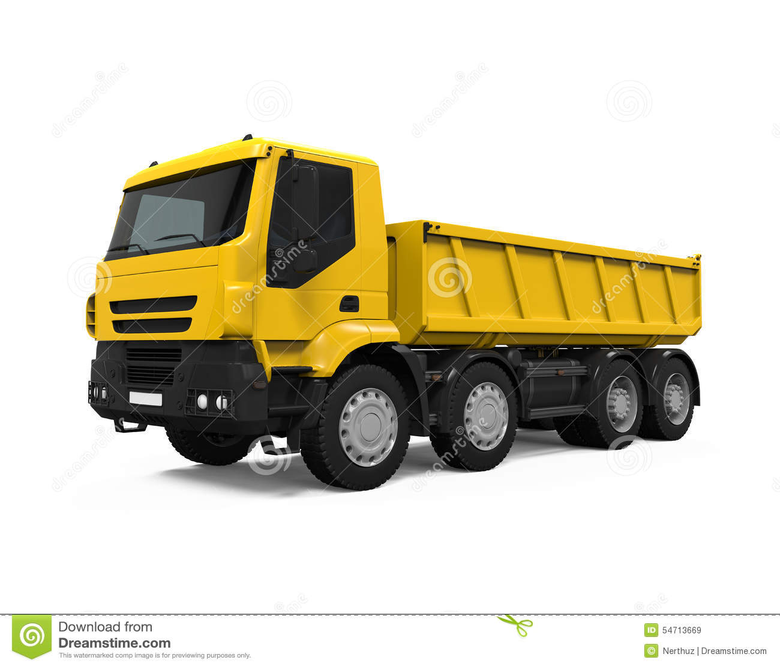 Tipper Dump Truck jaune