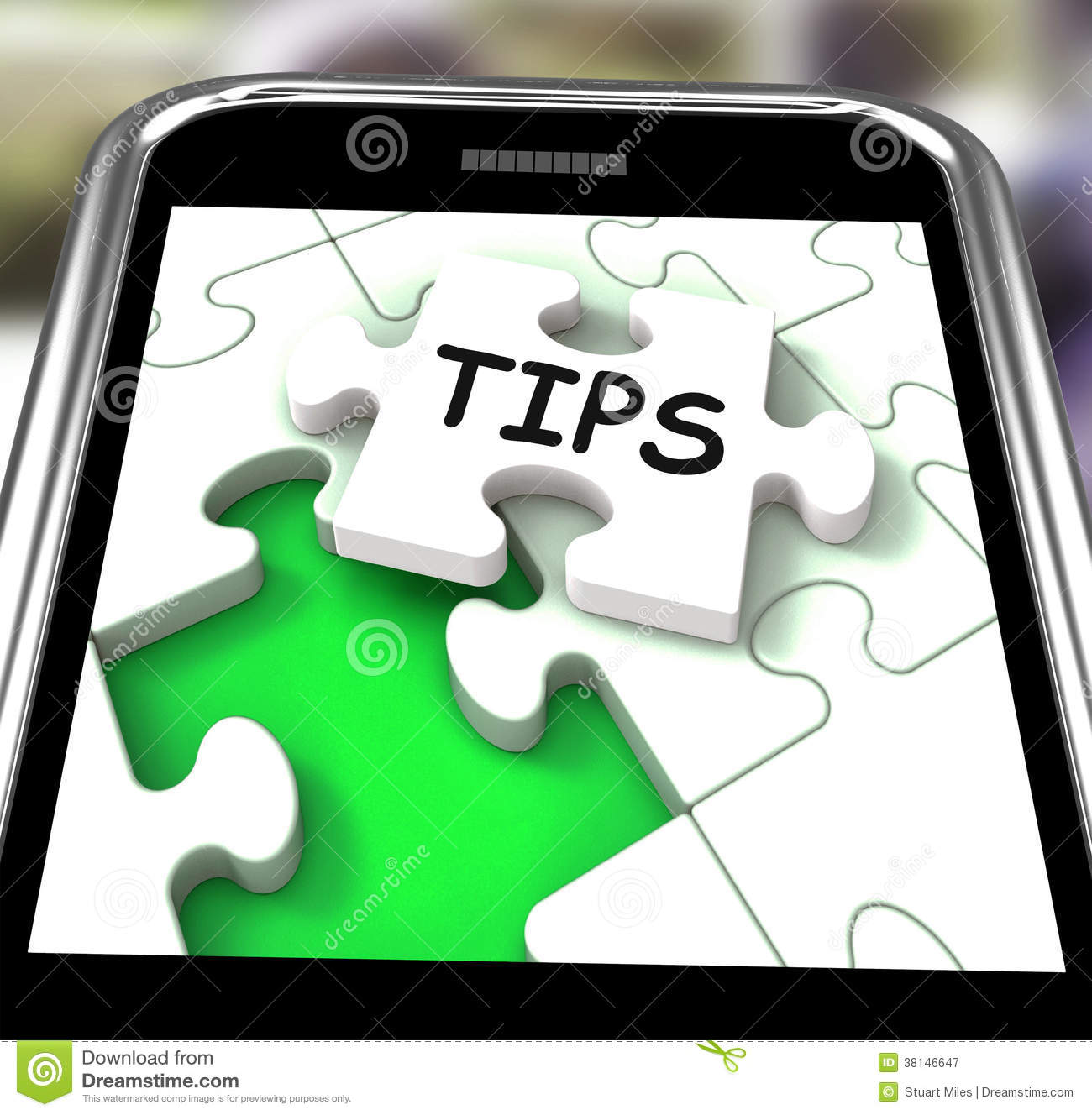 Tips Smartphone Shows Internet Prompts And Guidance Stock