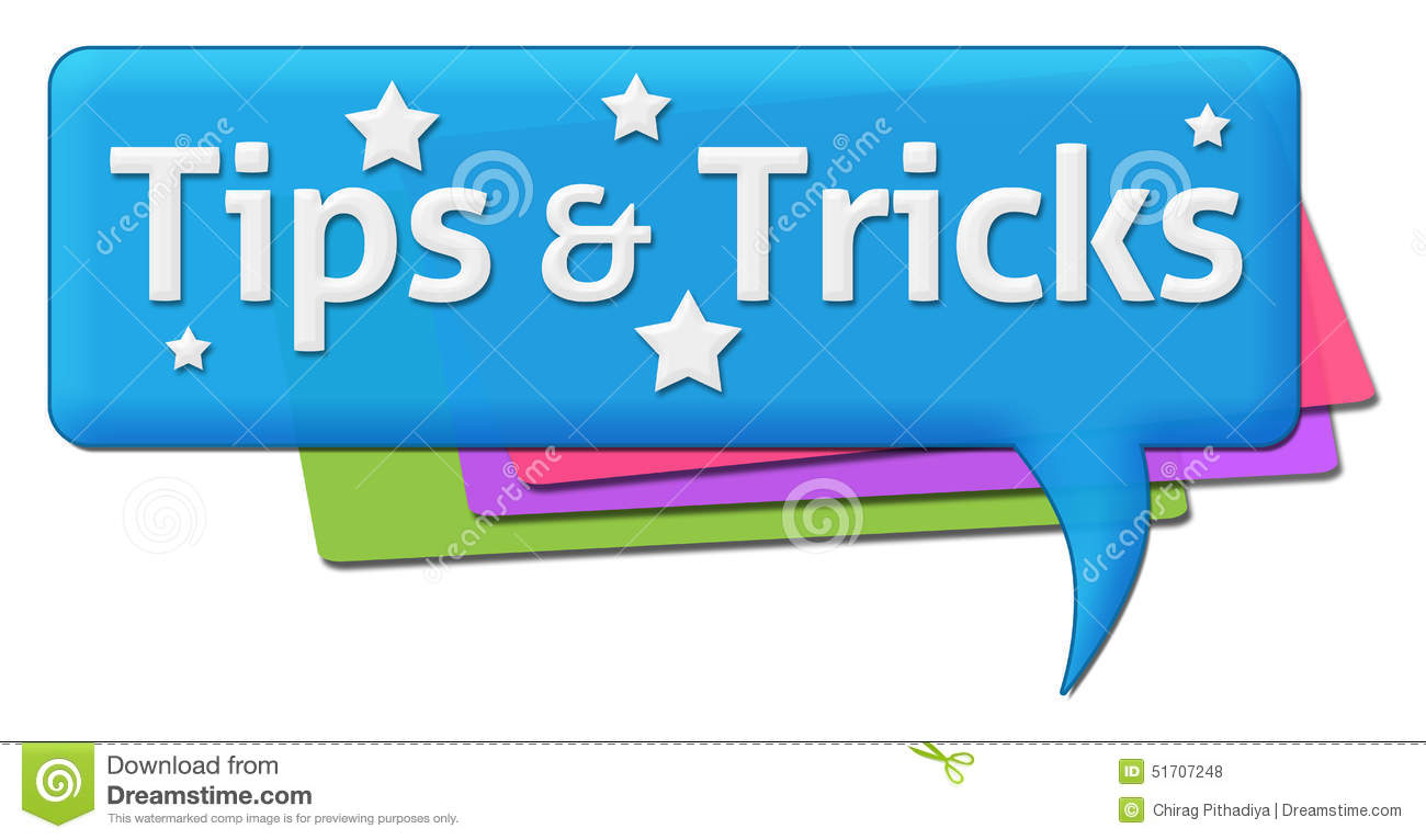 Tips And Tricks Colorful Comment Symbol Stock Illustration