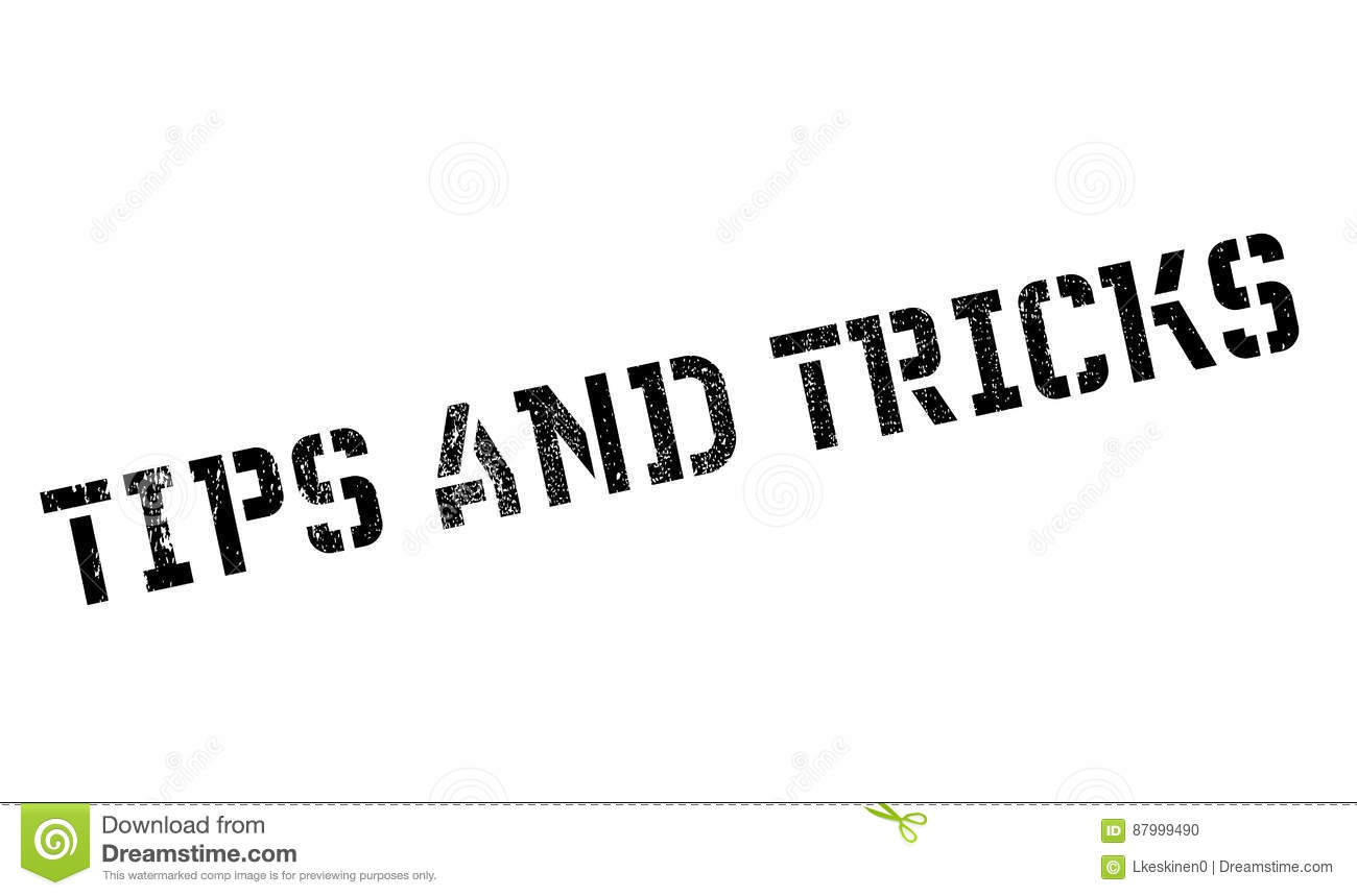 Tips And Tricks Rubber Stamp Stock Vector Image 87999490