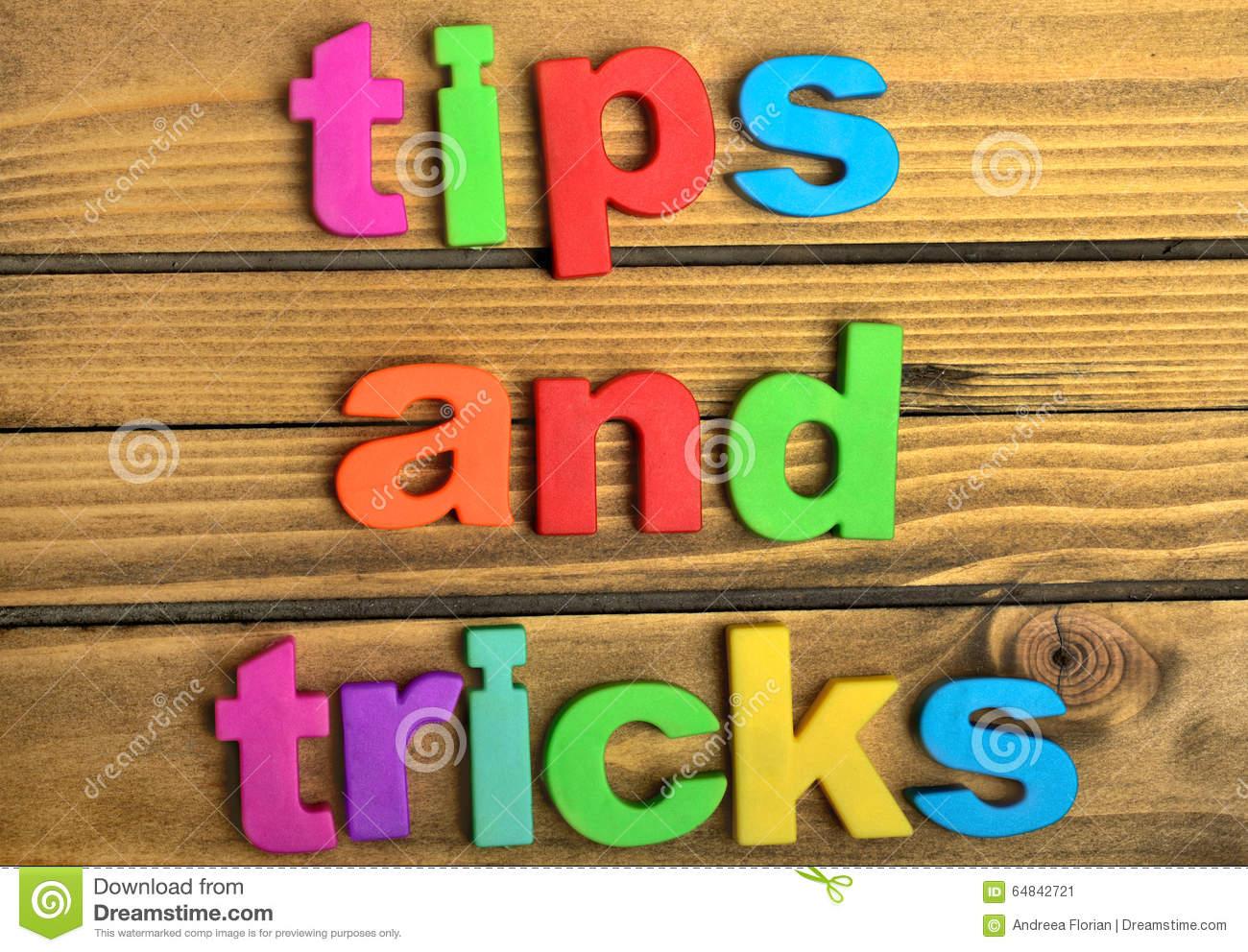 Tips and Tricks word