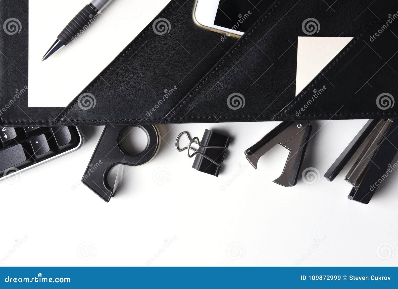 Tir aérien des fournitures de bureau