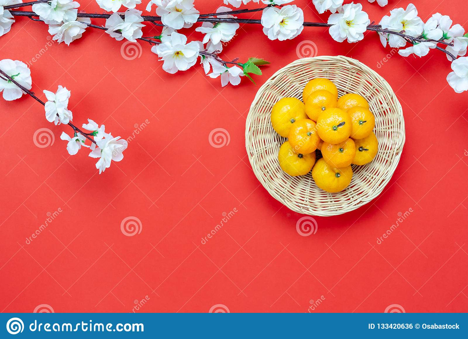 Tir année chinoise de décoration de disposition de nouvelle et de concept lunaire de fond de vacances de nouvelle année