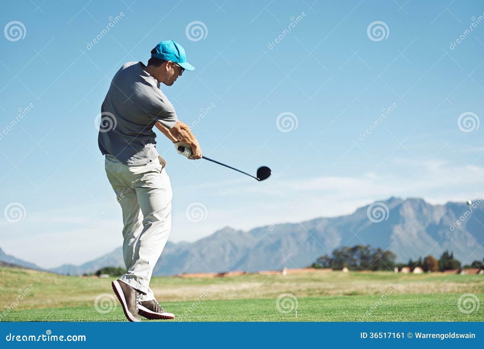 Tir de tee de golf