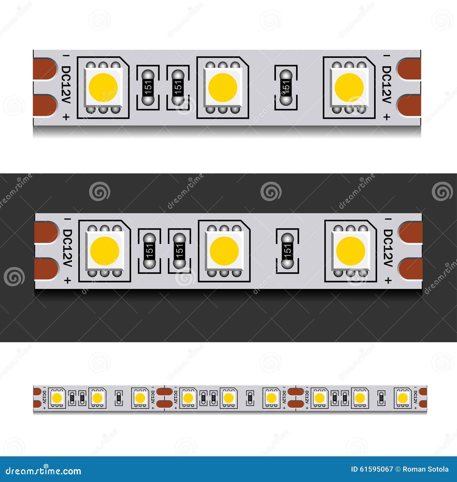 Tira de la luz del LED inconsútil