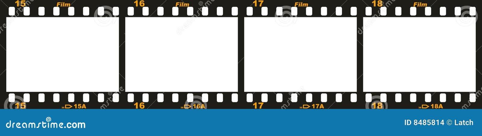 Tira de la película de 35m m