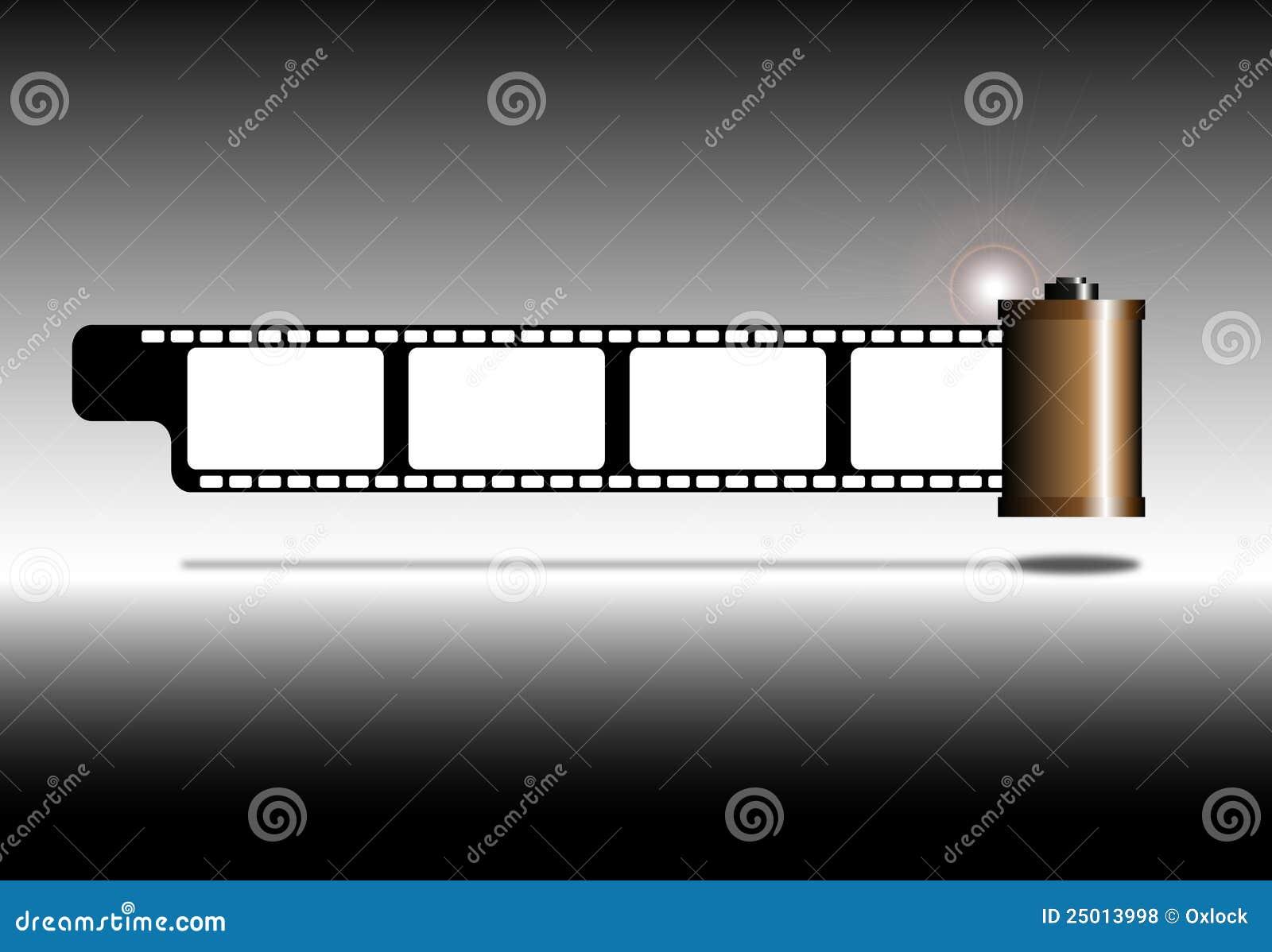 Tira de la película de la foto