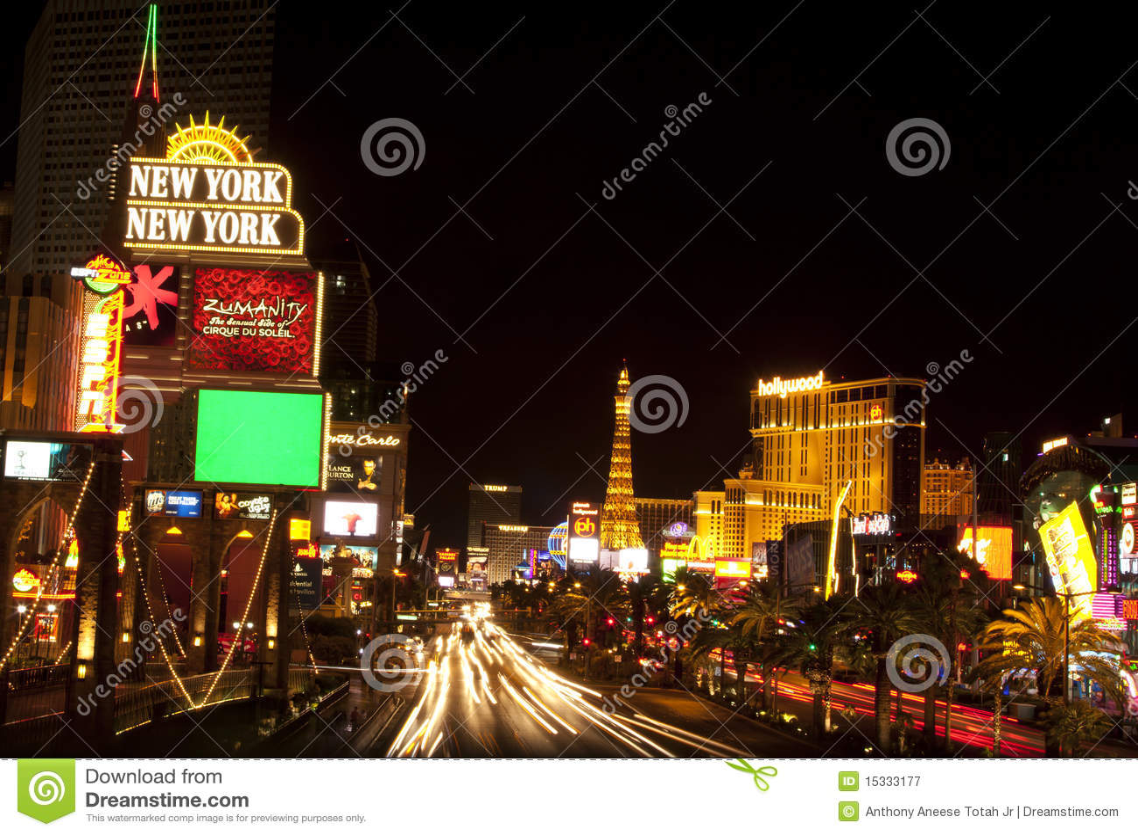 La tira en Las Vegas foto editorial Imagen de recurso