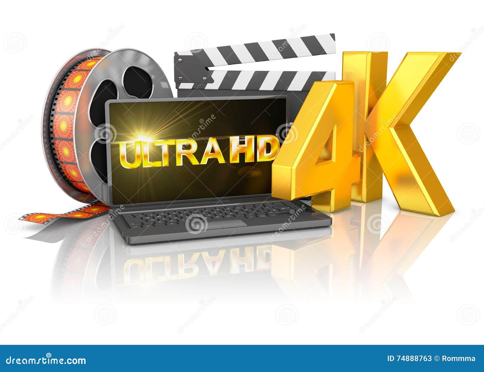 Tira do portátil 4K e do filme