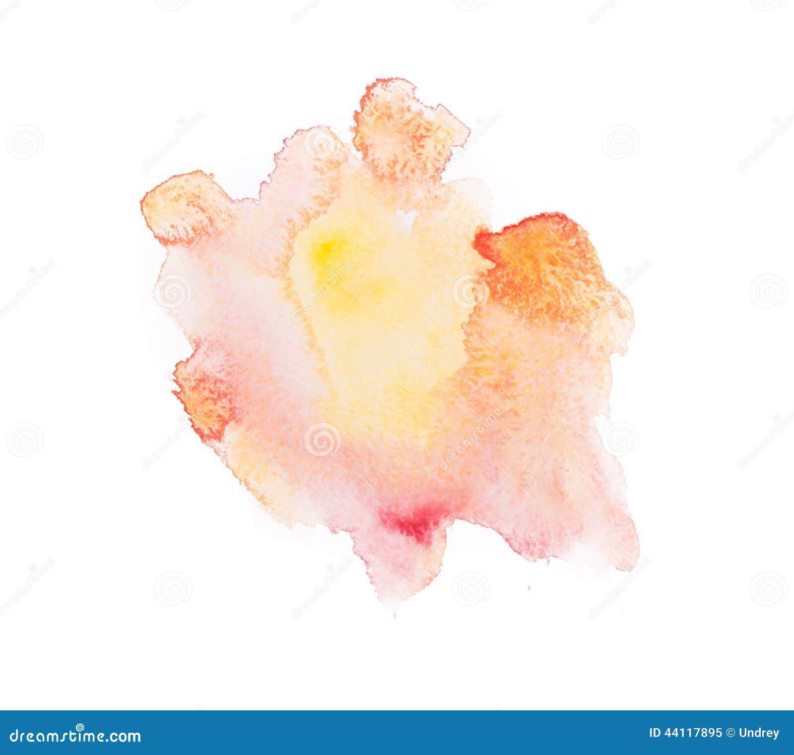 Tiraggio astratto variopinto giallo della mano acquerello
