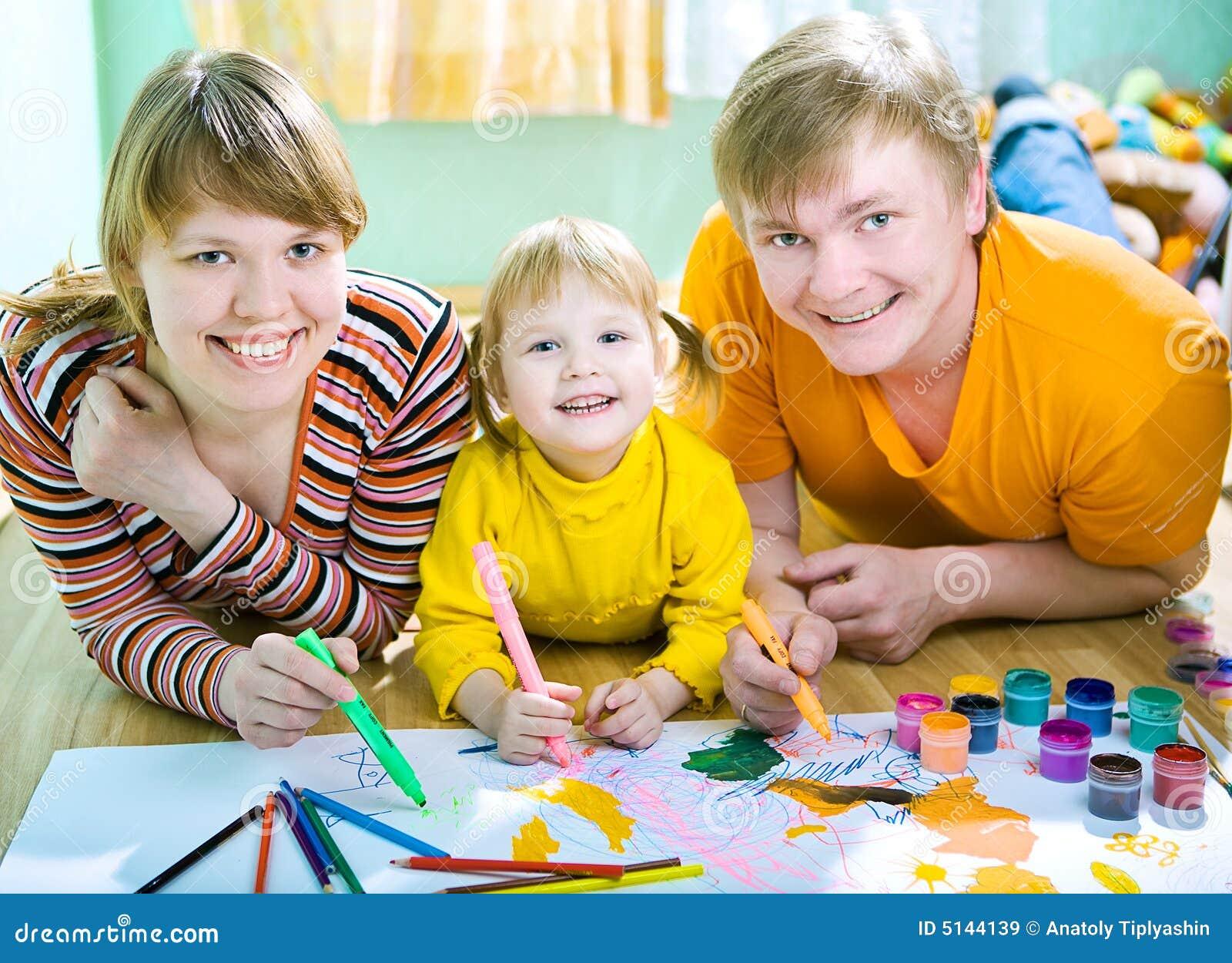 Tiraggio della famiglia