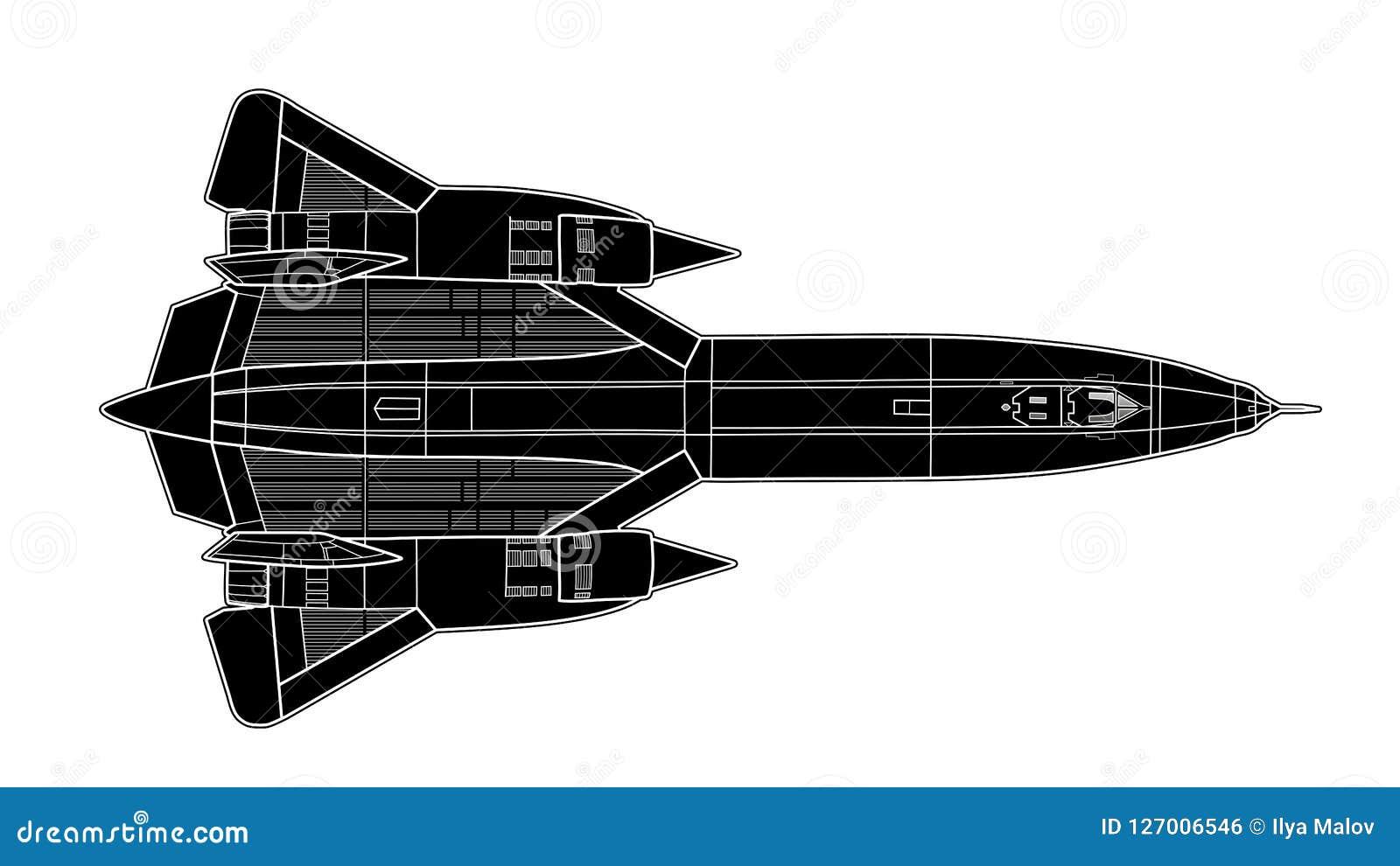 Tiraggio di vettore di jet americano moderno