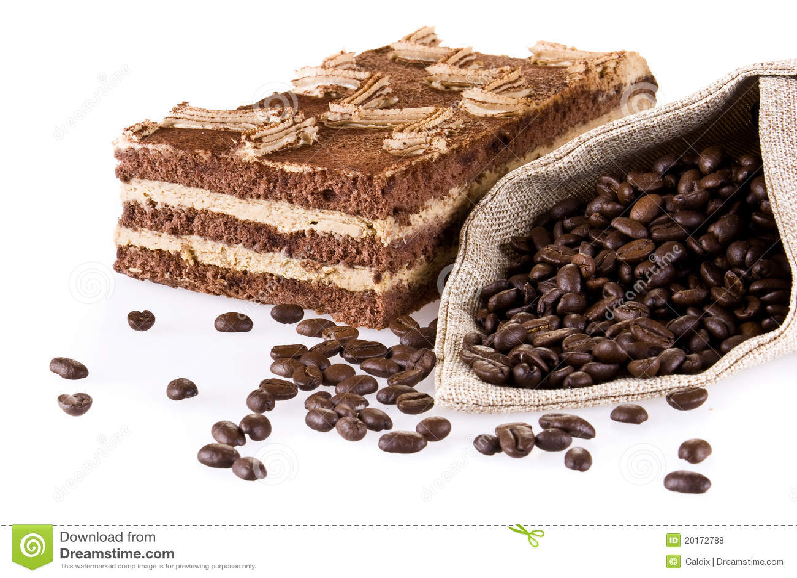 Tiramisu κέικ τσαντών coffe
